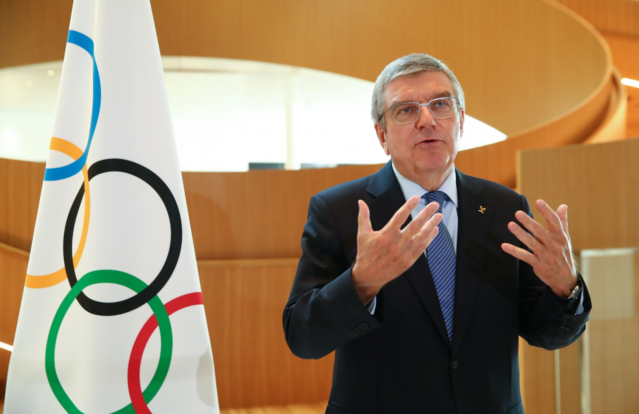 IOC President Thomas Bach was among those to welcome the new Prime Minister ©Getty Images