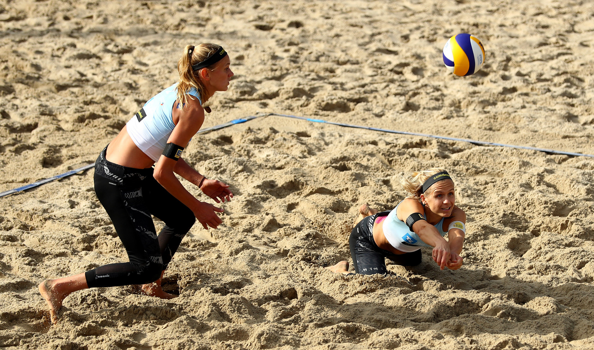 Olympic champions Laura Ludwig and Margareta Kozuch won at the European Beach Volleyball Championships for a second time ©Getty Images