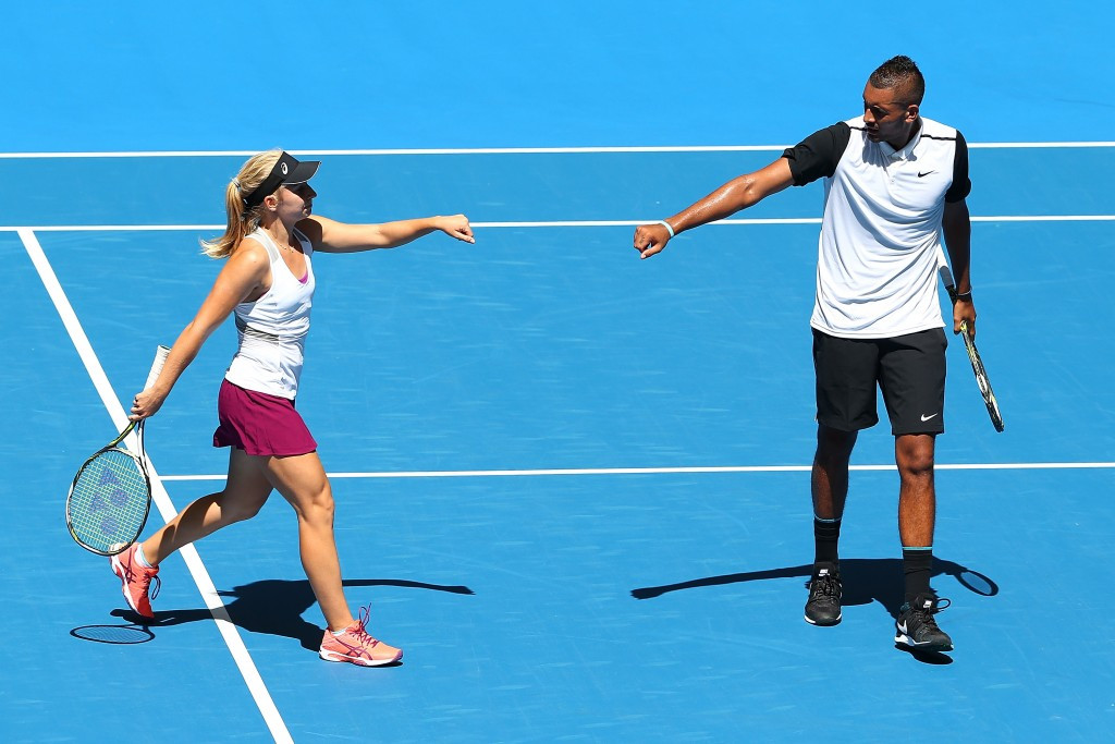 Nick Kyrgios and Daria Gavrilova made a winning start in Perth ©Getty Images