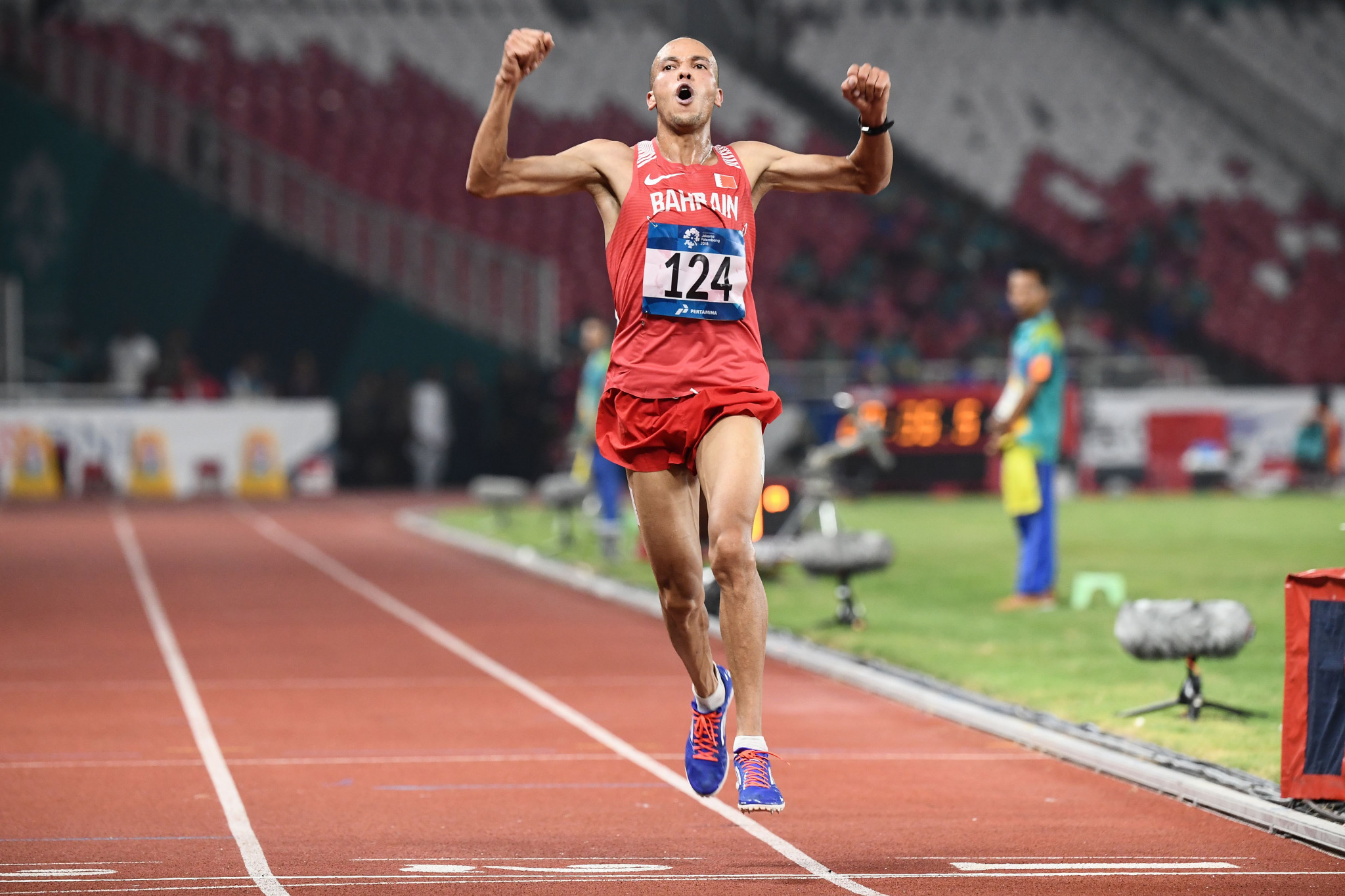 Bahrain's Hassan Chani won the 10,000m at Jakarta 2018 by nearly 25 seconds but will now lose his medal after being banned by the Athletics Integrity Unit ©Getty Images