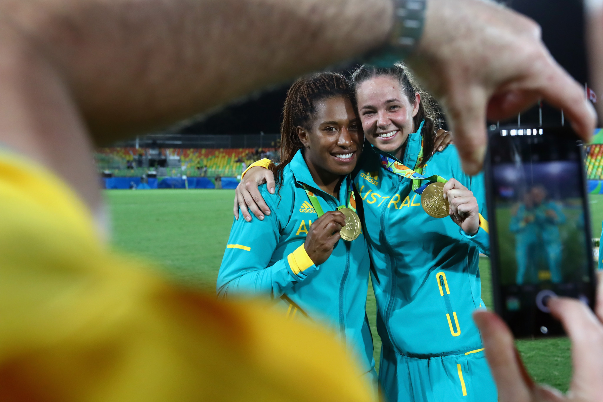 Chloe Dalton, right, scored 34 points as Australia were crowned Olympic champions at Rio 2016 ©Getty Images
