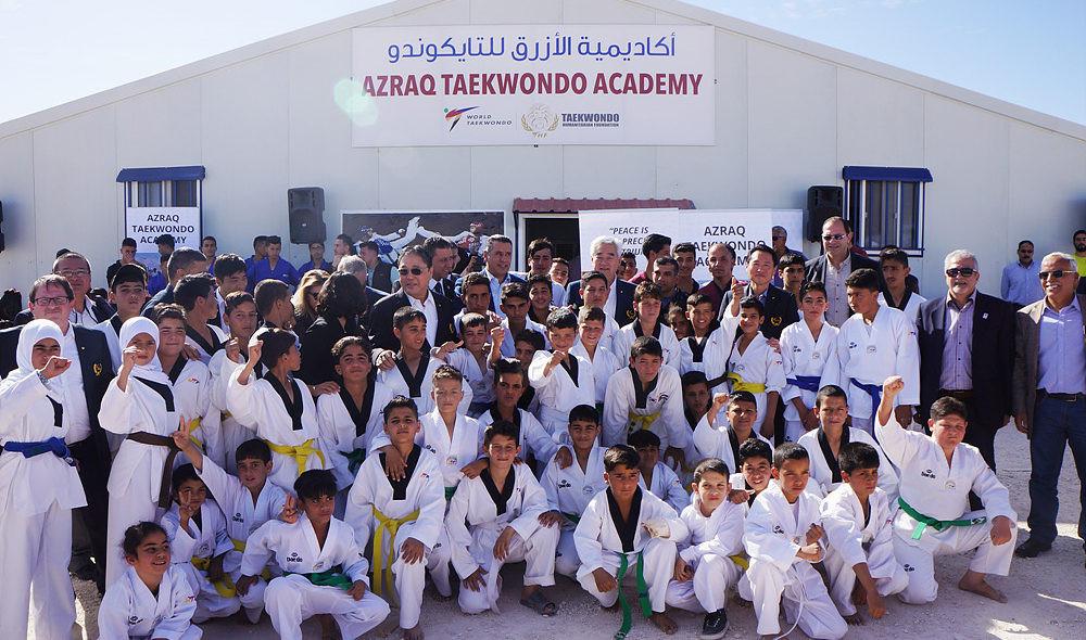 Chungwon Choue discussed the Taekwondo Humanitarian Foundation's efforts to support refugees ©World Taekwondo