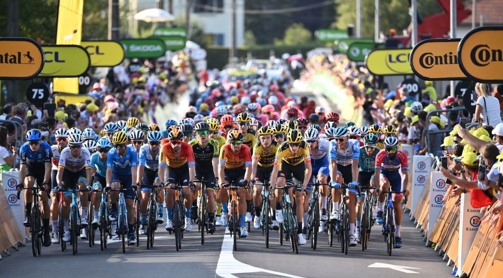 The peloton is nearing the end of a gruelling Tour ©Getty Images