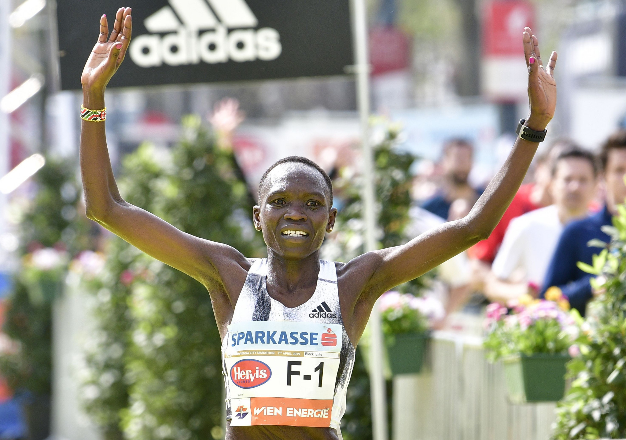 Kenya's Nancy Kiprop set the women's course record at last year's Vienna City Marathon ©Getty Images