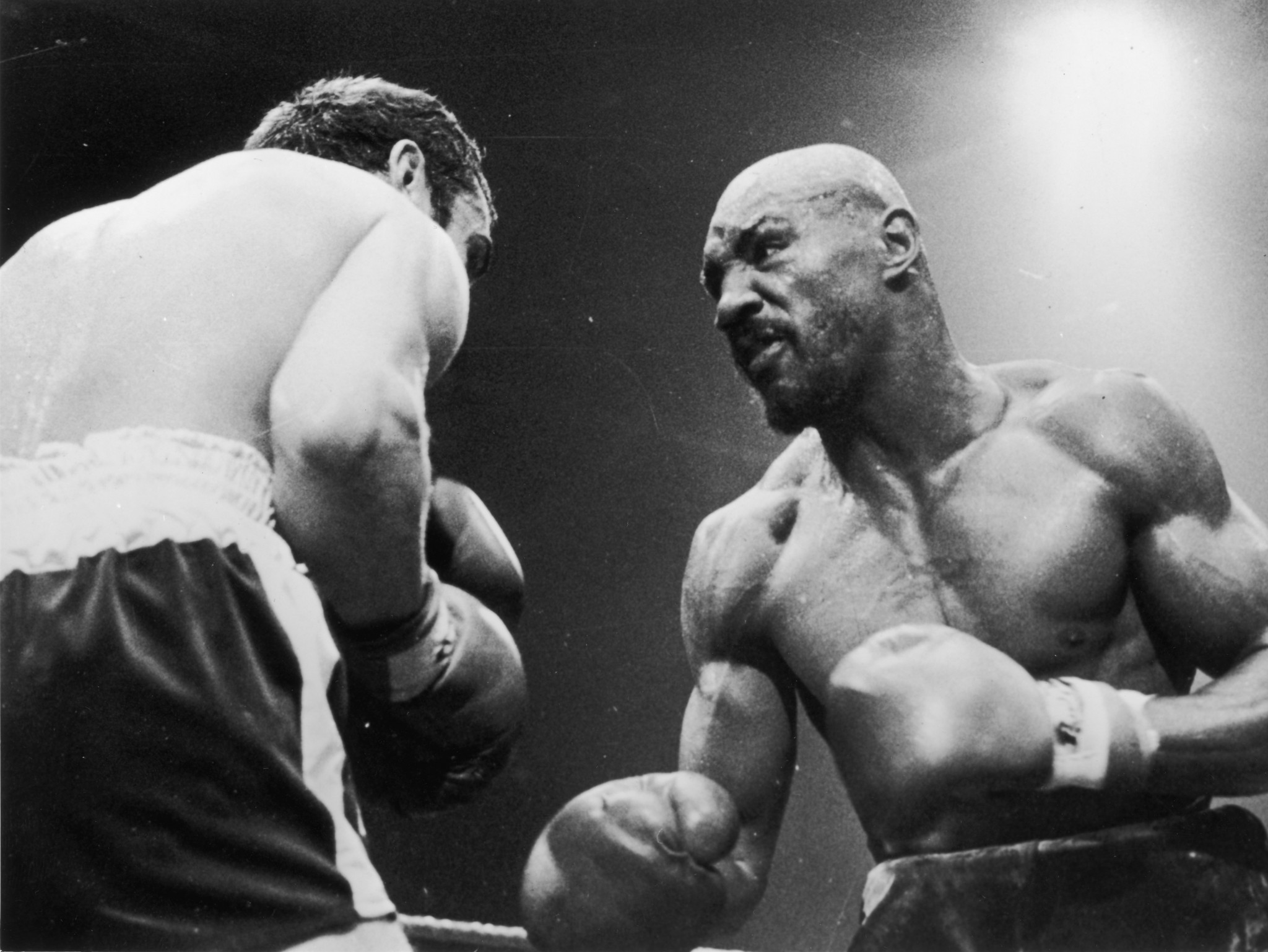 Marvelous Marvin Hagler stopped Alan Minter in three rounds following the latter's infamous remark ©Getty Images