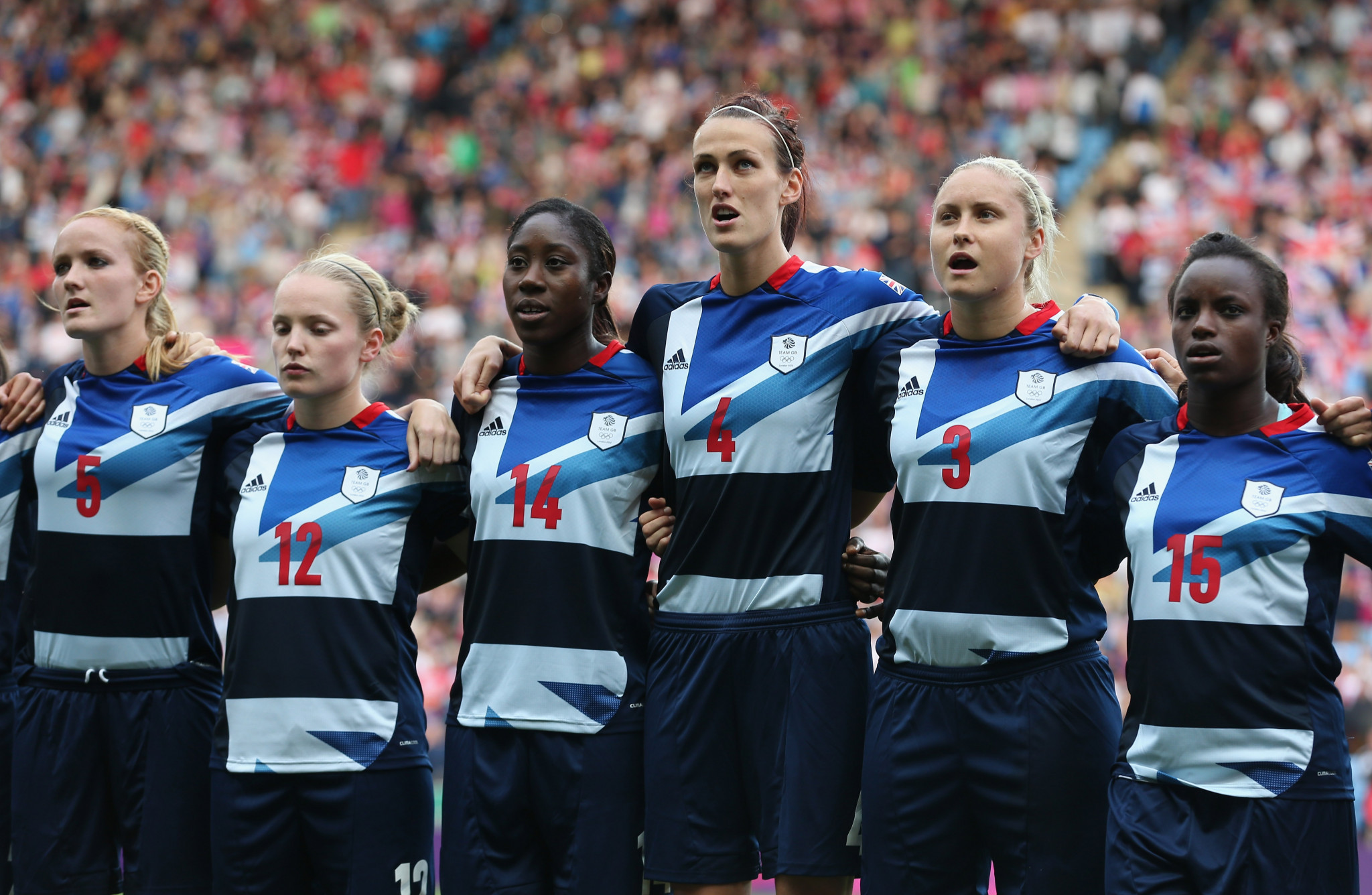The British side for the London 2012 Olympic Games only featured two non-English players ©Getty Images