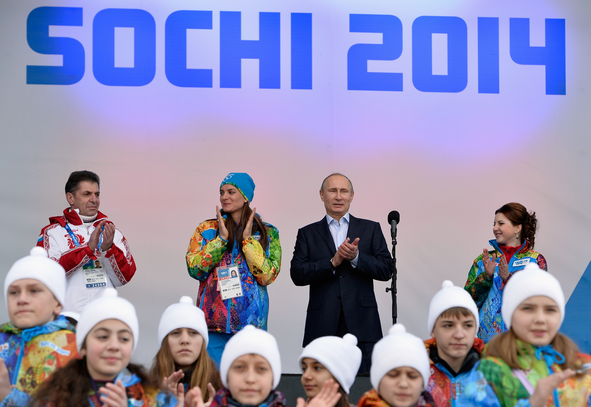 Alexander Kravtsov, left, was Russia's Chef de Mission at Sochi 2014 ©Getty Images