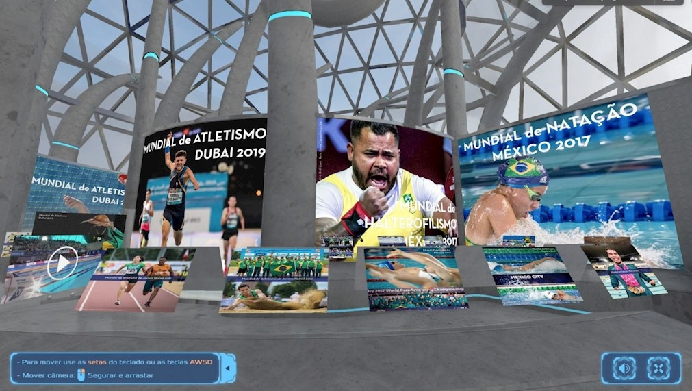 The Brazilian Paralympic Committee's virtual exhibition is set to be held on Monday ©CPB