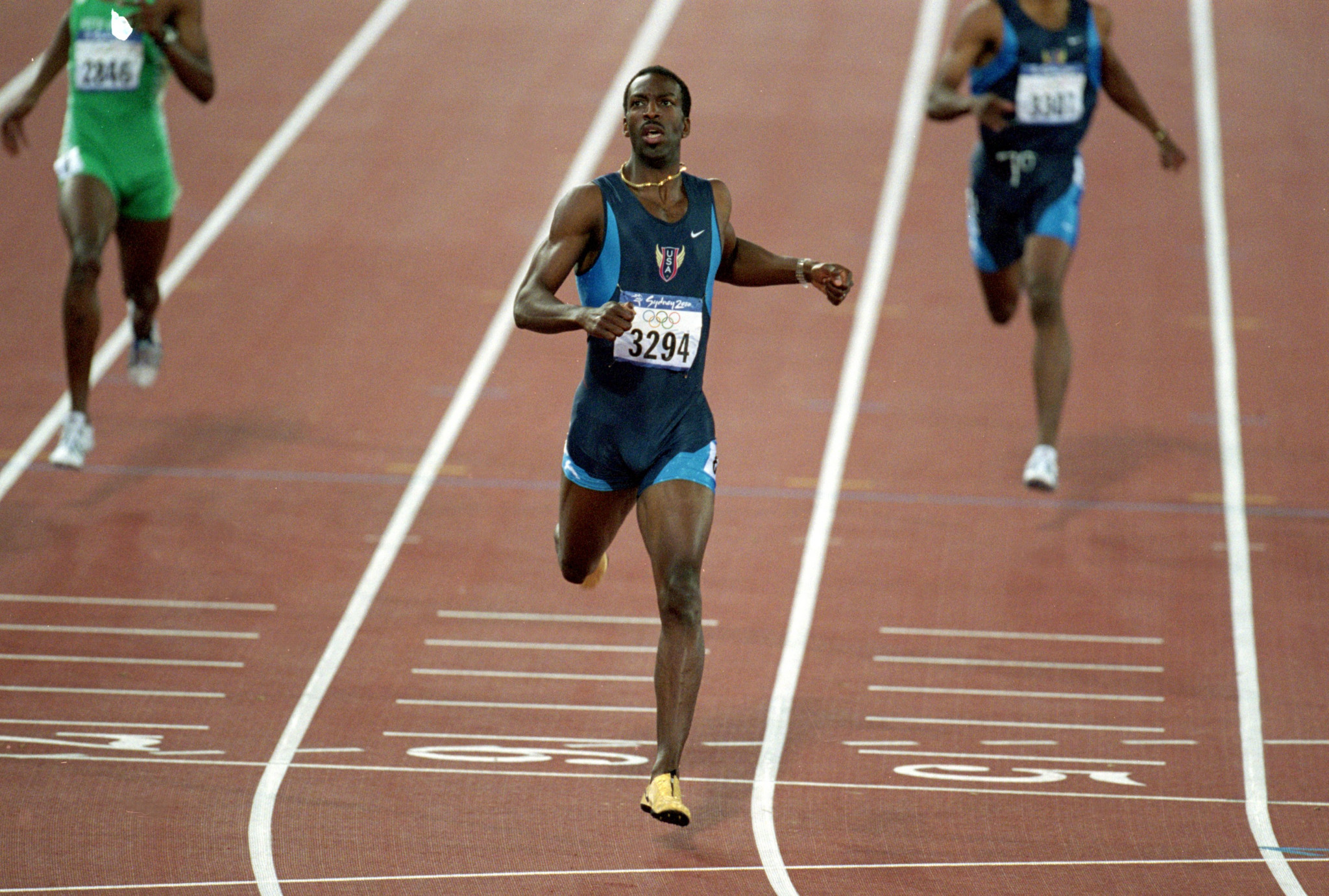 Four years after winning the 200 and 400m double at the Atlanta Olympics, American sprinter Michael Johnson ended his career by successfully defending his 400m title at the Sydney 2000 Olympics - on Magic Monday ©Getty Images