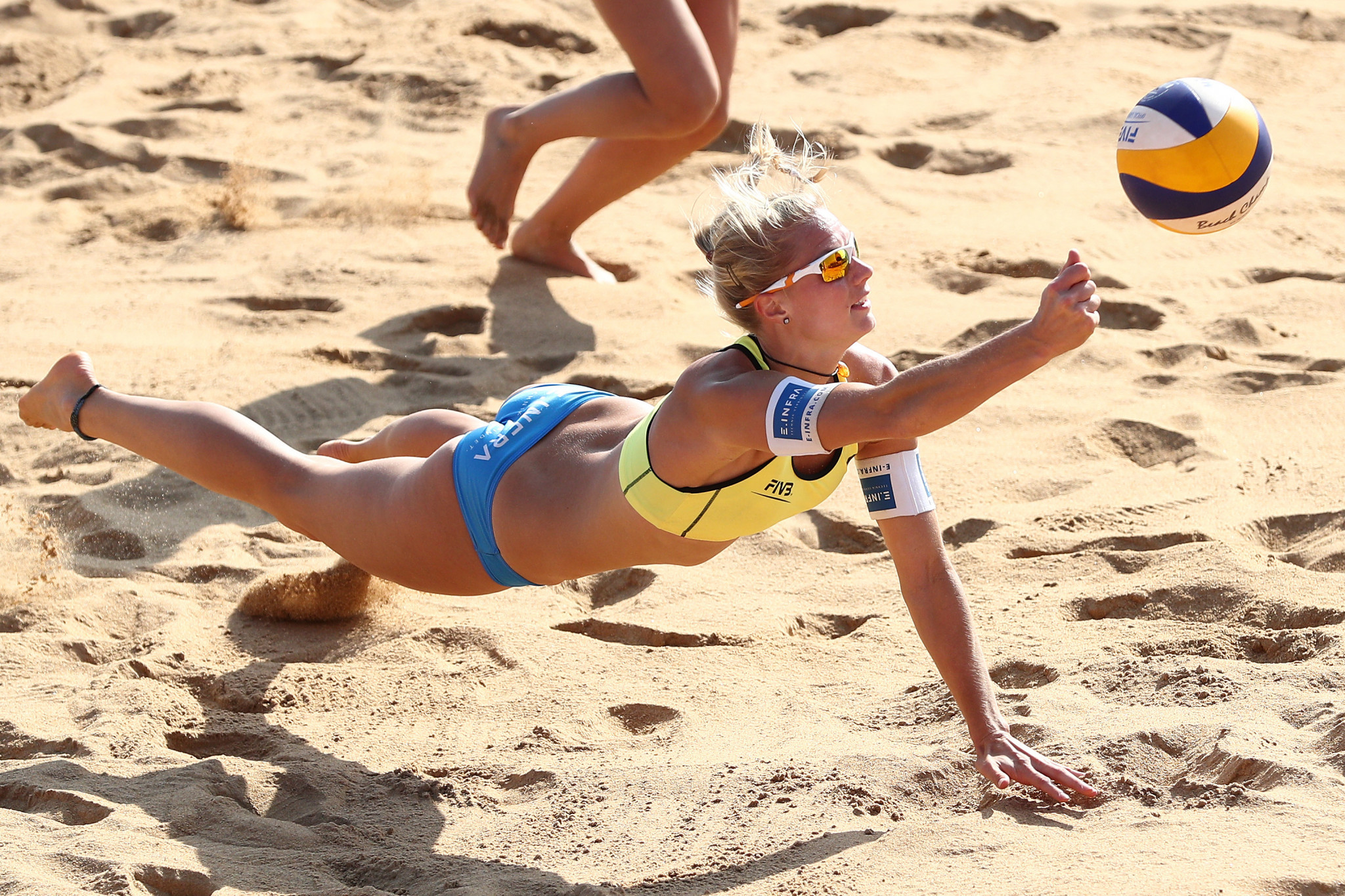 Kim Behrens progressed to the final of the European Beach Volleyball Championships with German partner Cinja Tillmann ©Getty Images