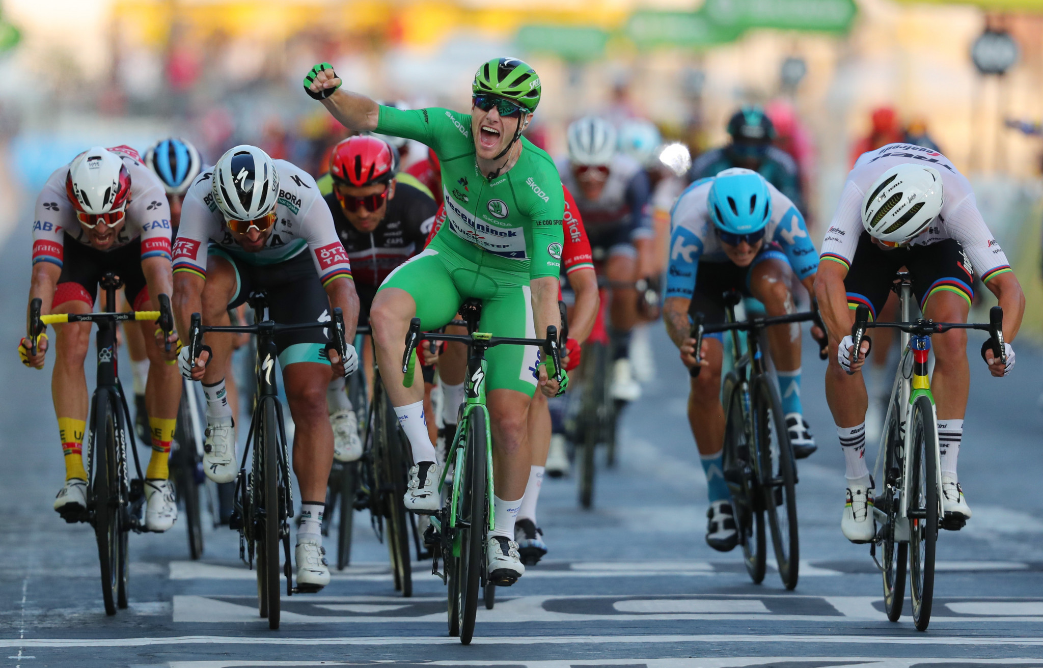Green jersey Sam Bennett triumphed on the final stage ©Getty Images