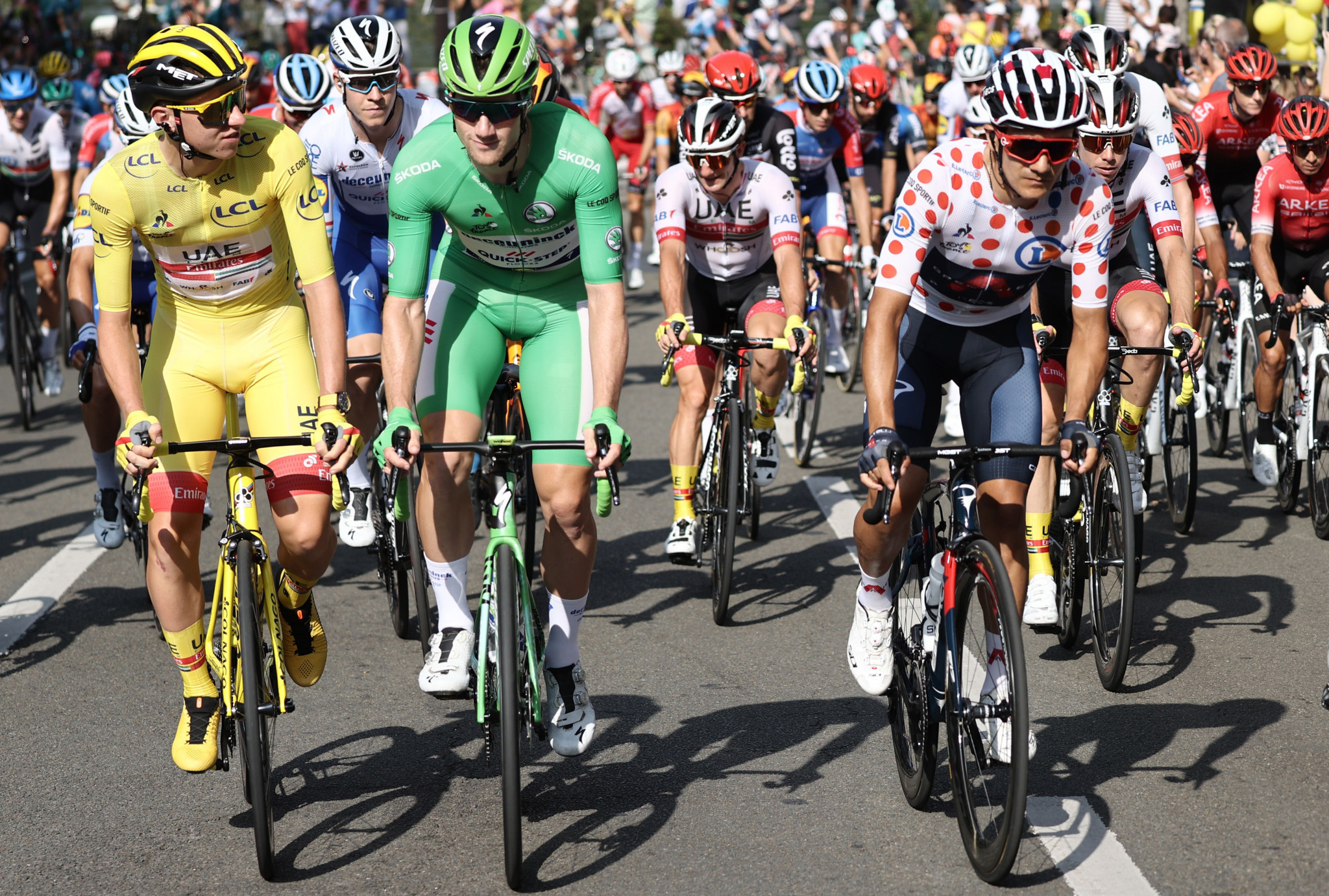 The ceremonial final stage took the riders into Paris ©Getty Images
