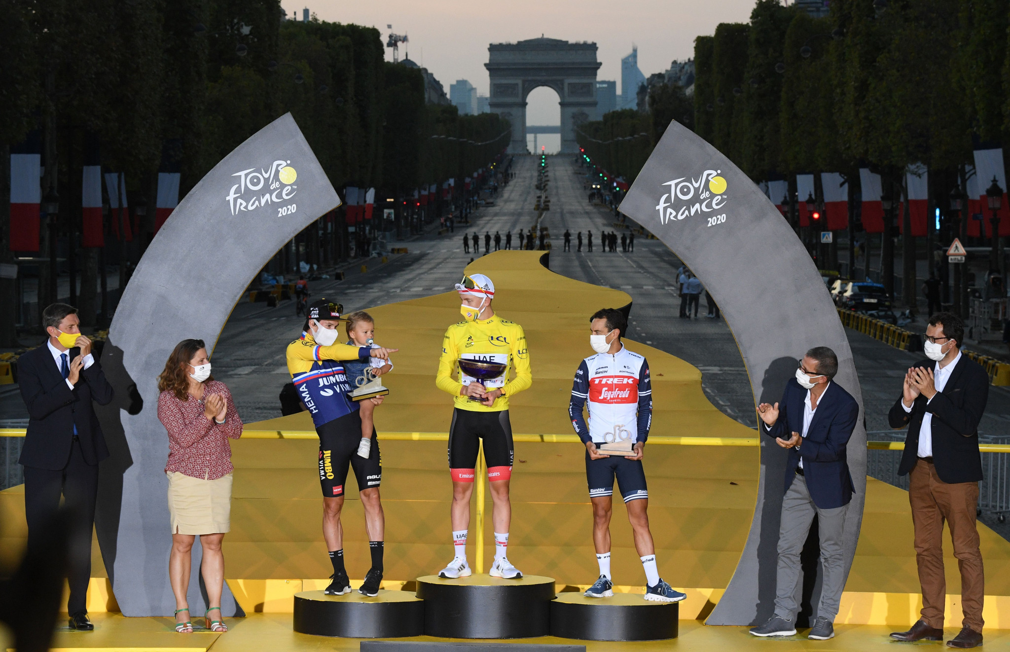 The Tour de France was completed in Paris today with Tadej Pogacar taking the yellow jersey ©Getty Images