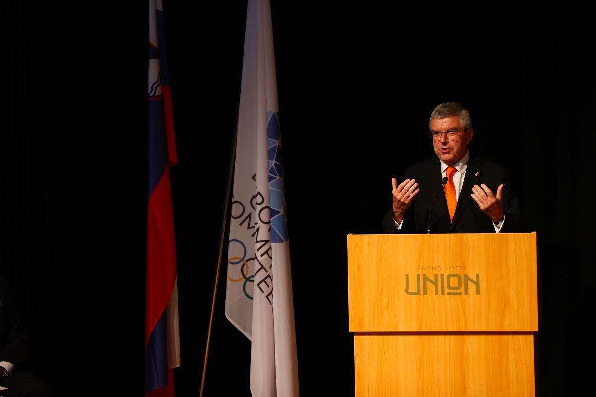 Thomas Bach described Janez Kocijančič as a valuable advisor and supporter of using sport for education and social values ©Ales Fevzer ph/ NOC of Slovenia