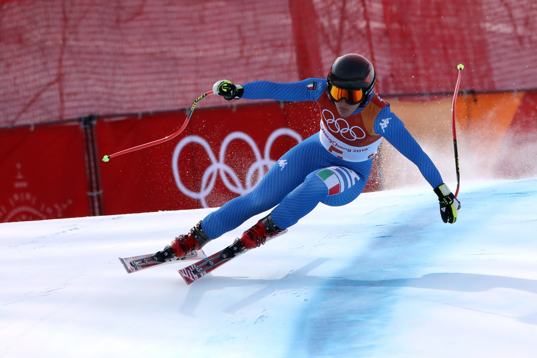 Sofia Goggia, winner of the women's downhill, was among Italy's three gold medallists at Pyeongchang 2018 ©Getty Images