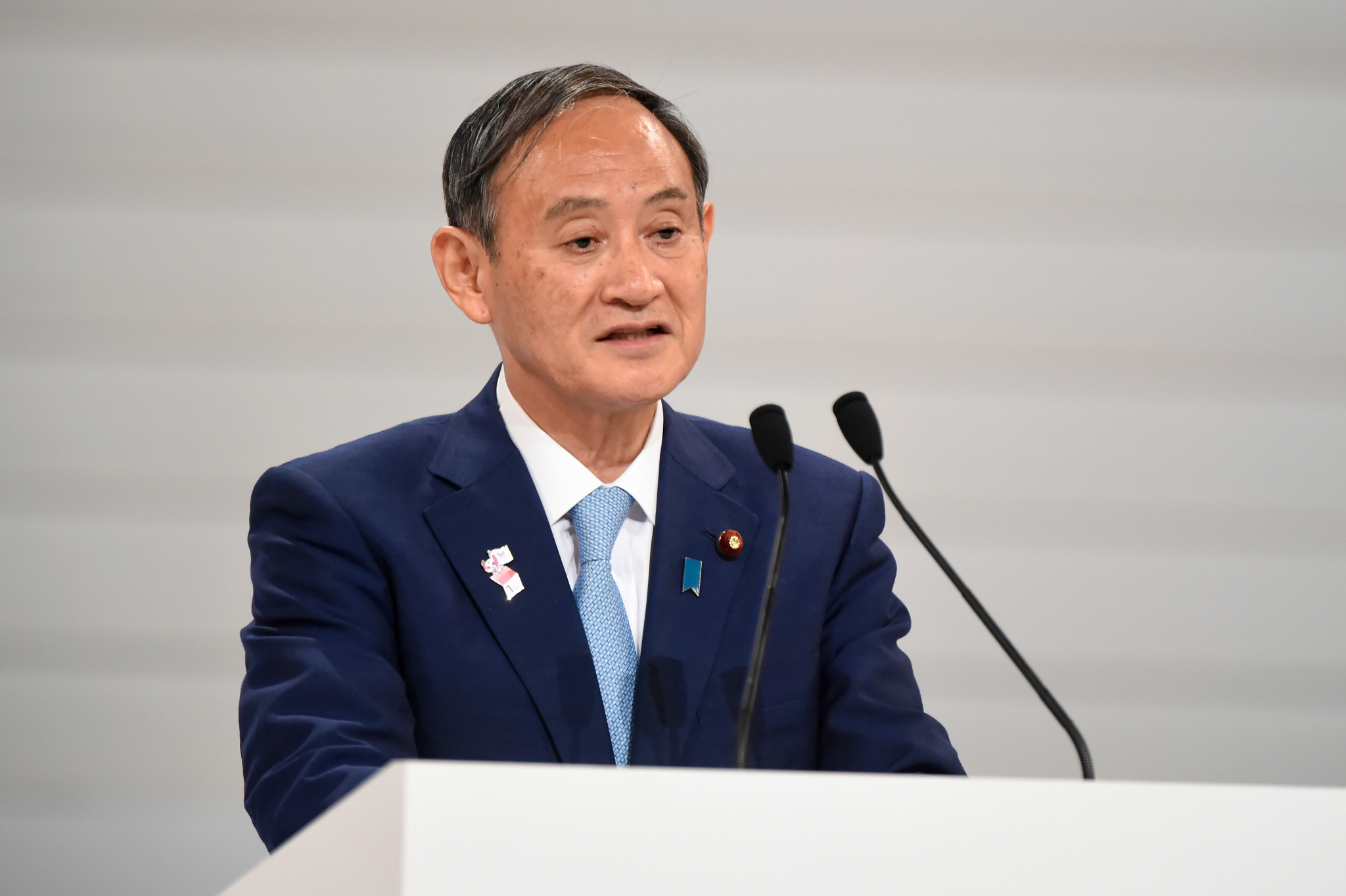 Yoshihide Suga is now set to be Japanese Prime Minister during next year's Olympic and Paralympics in Tokyo ©Getty Images