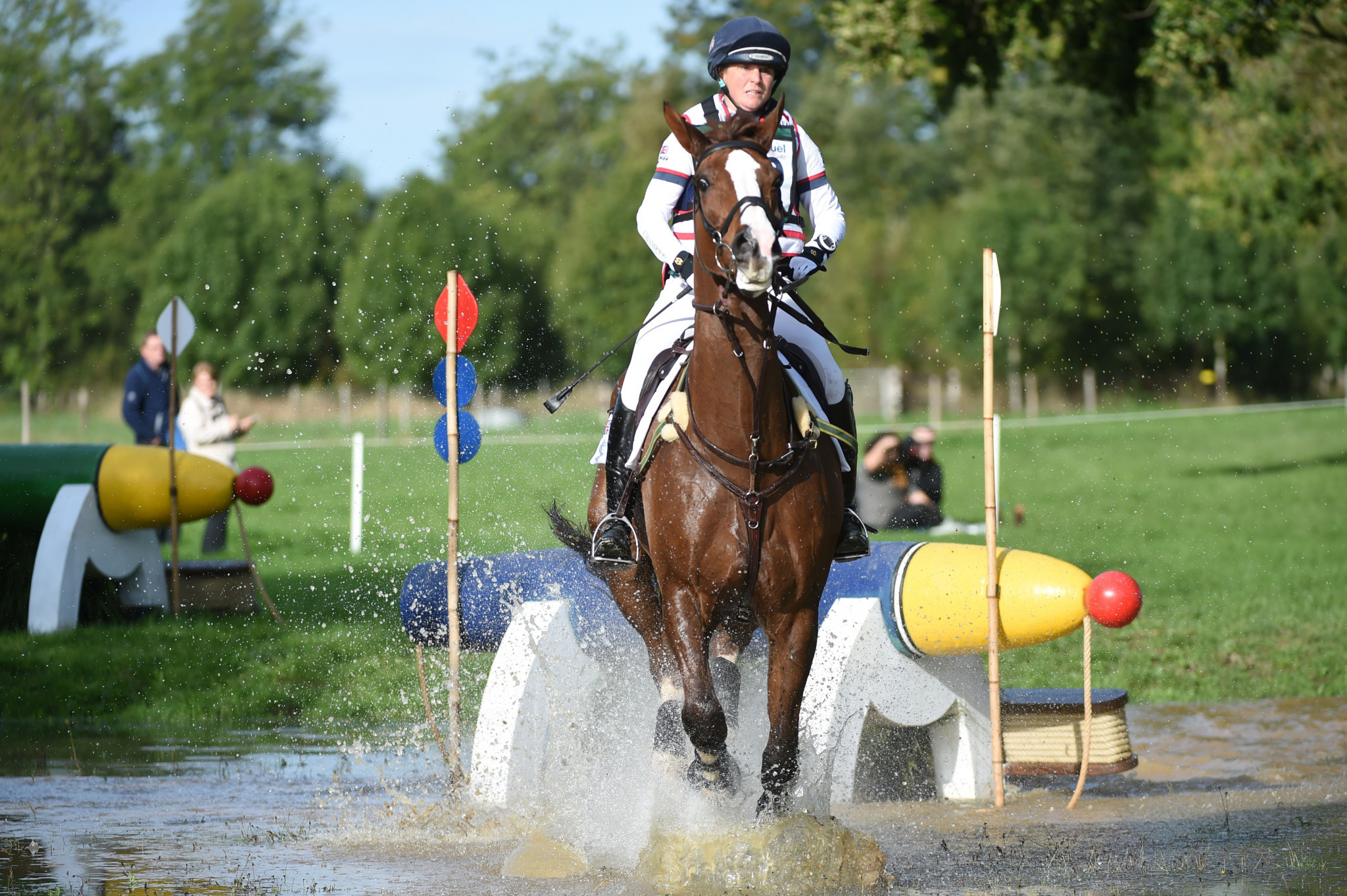 Britain's Georgina French competes in a cross-country event in Le Lion d'Angers in France last year ©Getty Images