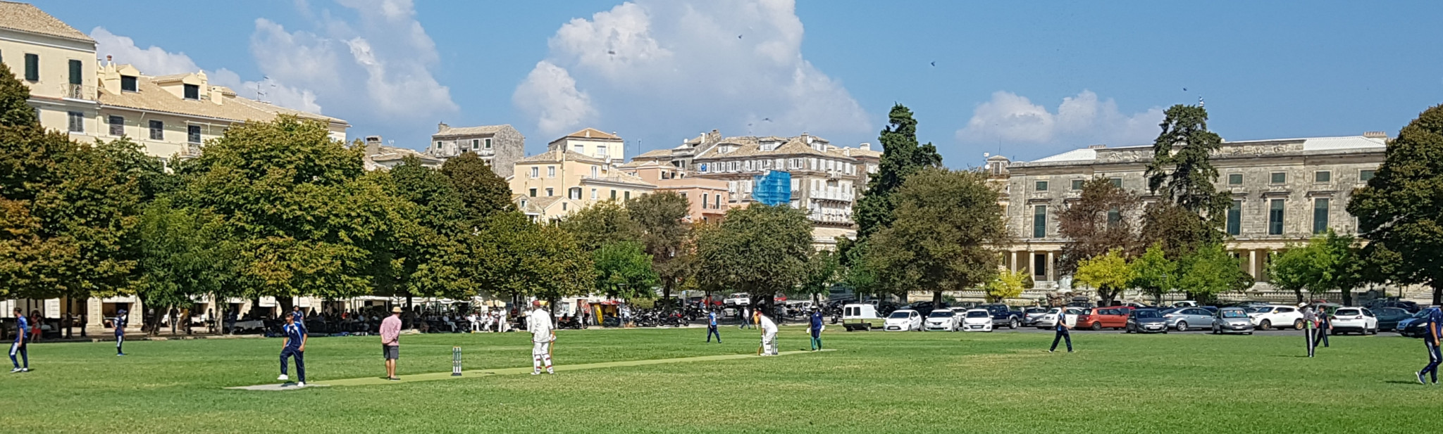 The Authors Cricket Club managed to enjoy a victory on the tour, the team's first win on Greek soil ©David Owen