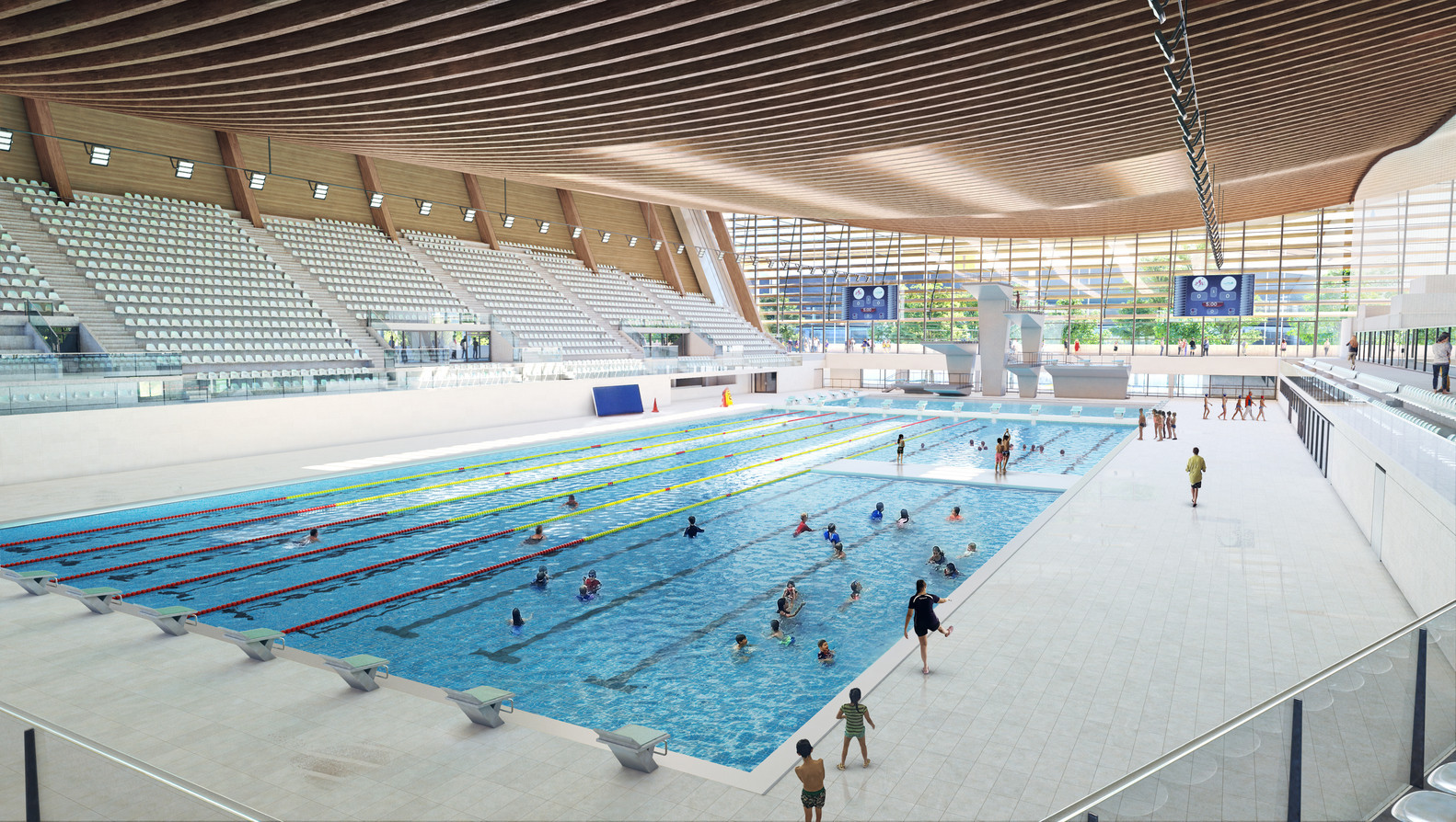 Swimming will be under one roof at the Paris 2024 Olympics and Paralympics ©Paris 2024