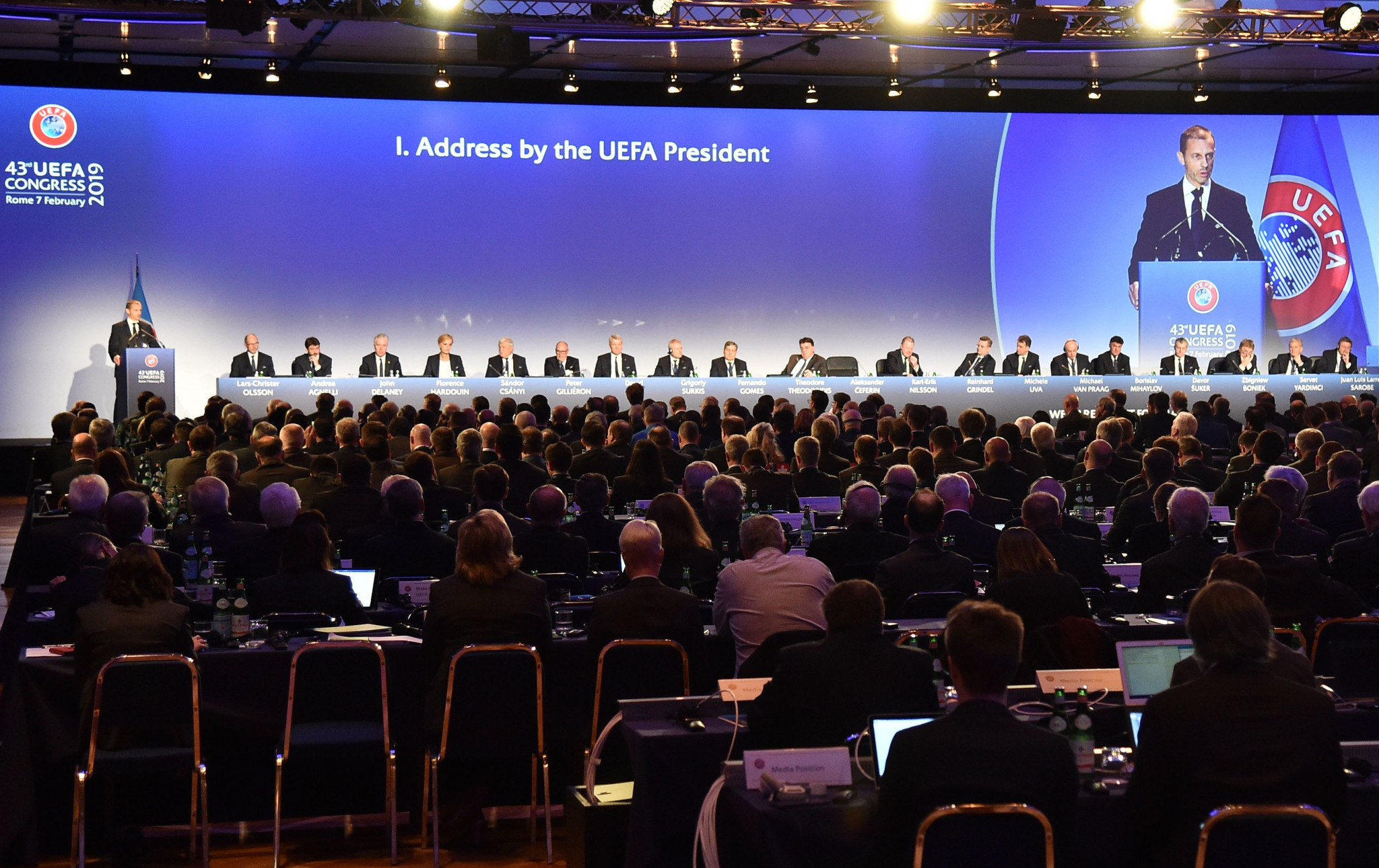 Minsk was scheduled to host next year's UEFA Congress but it has now been moved to Switzerland ©Getty Images