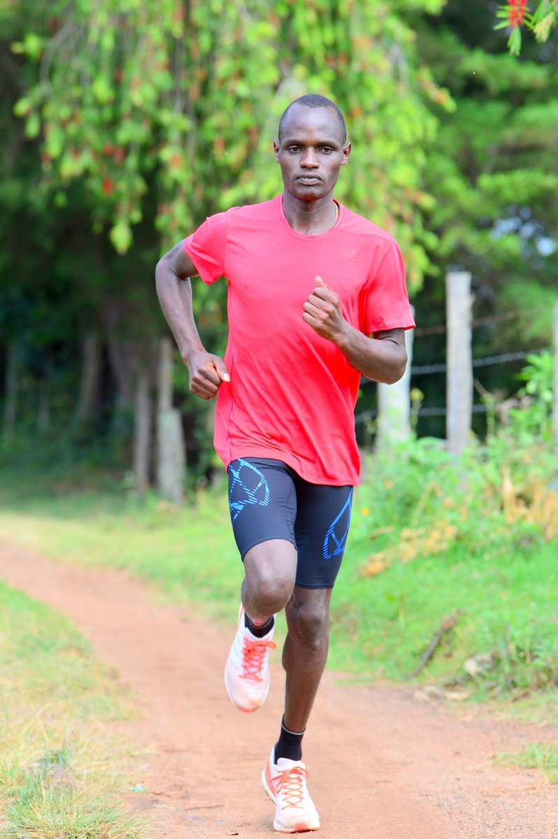 Patrick Siele tried to evade drugs testers in Kenya last year by running away from them and then hurdling a fence ©Twitter