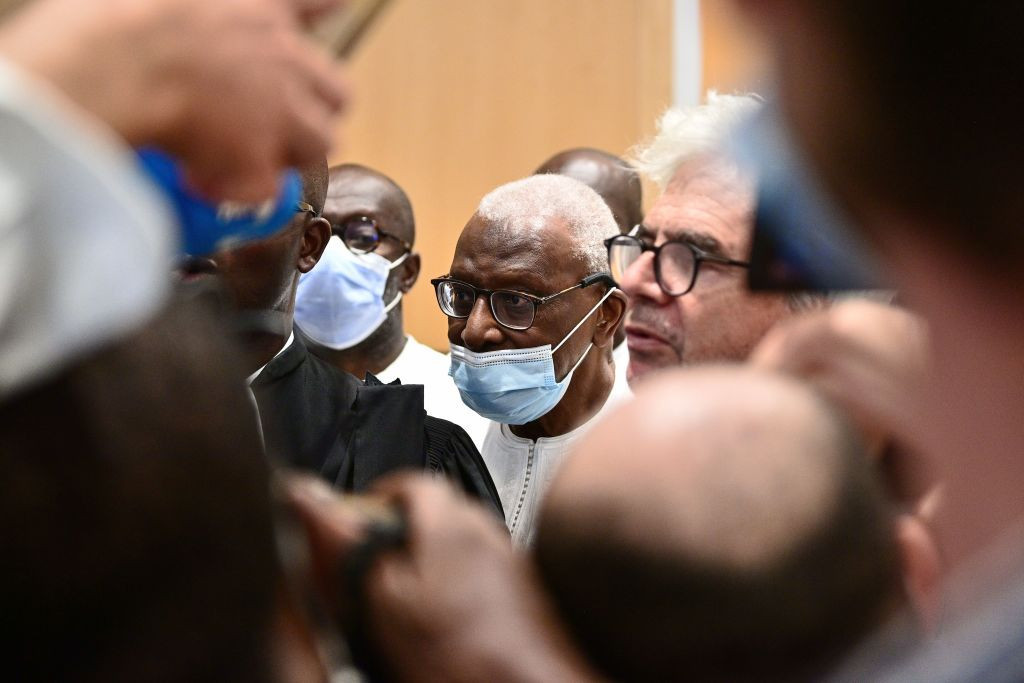 Disgraced former IAAF President Lamine Diack has been back in court to face a French judge ©Getty Images