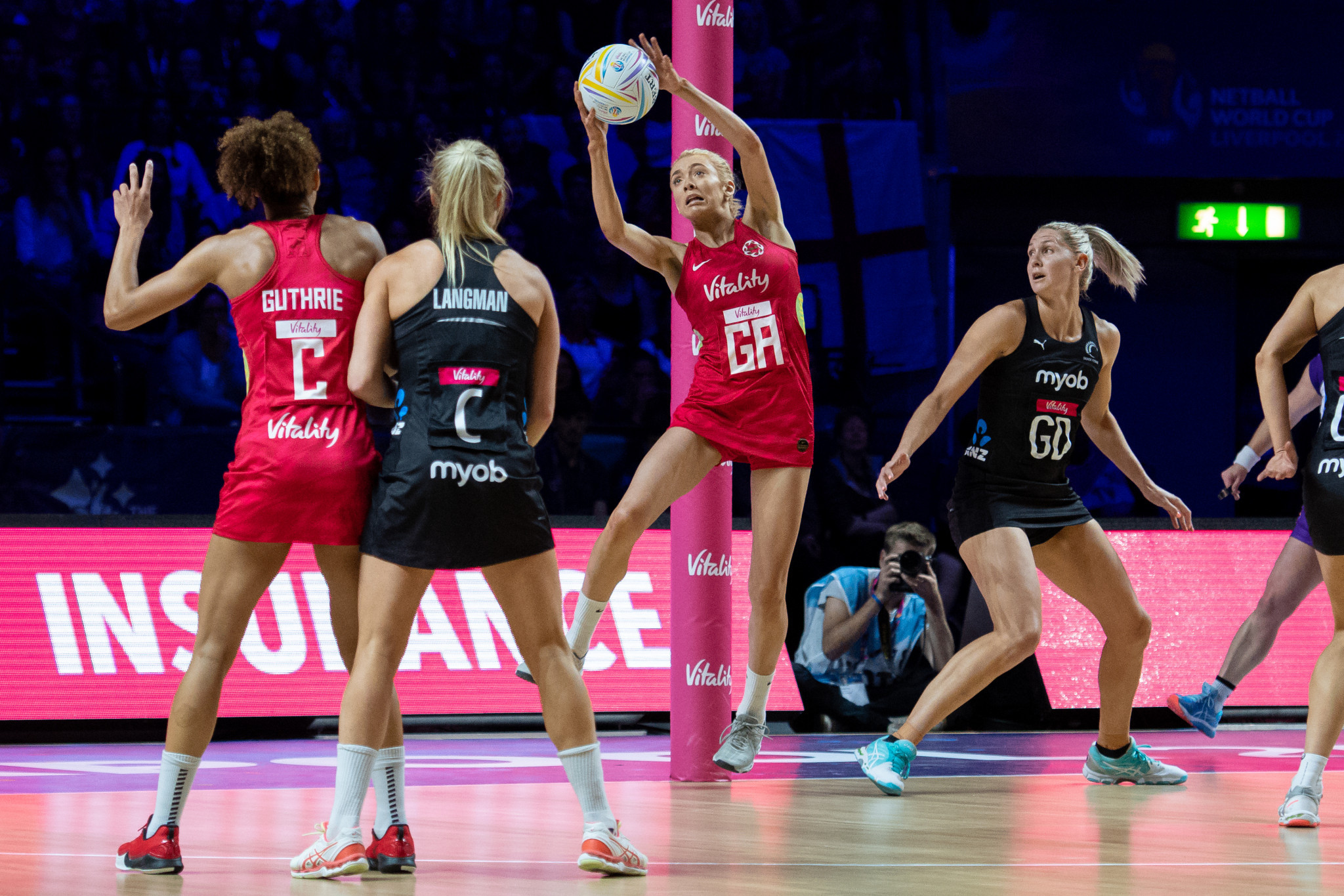 England to travel to New Zealand for three-match netball series