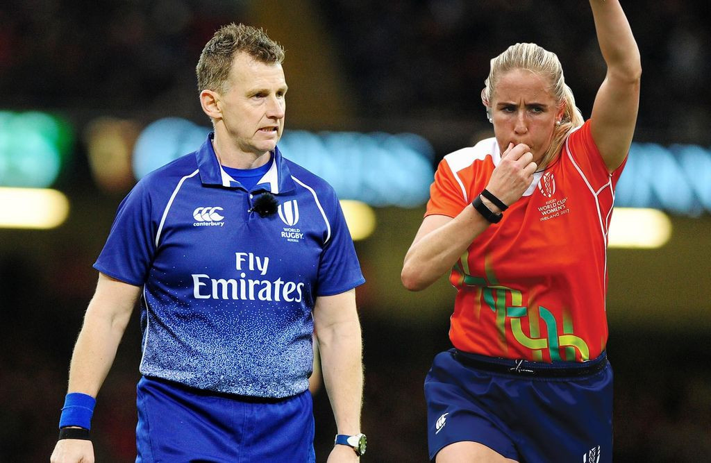 Nigel Owens and Joy Neville are set to make history this autumn as rugby officials ©World Rugby