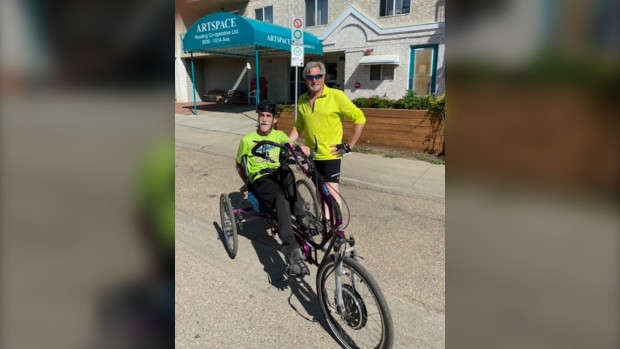 Paralympic medallist Thomas has custom-made tricycle returned