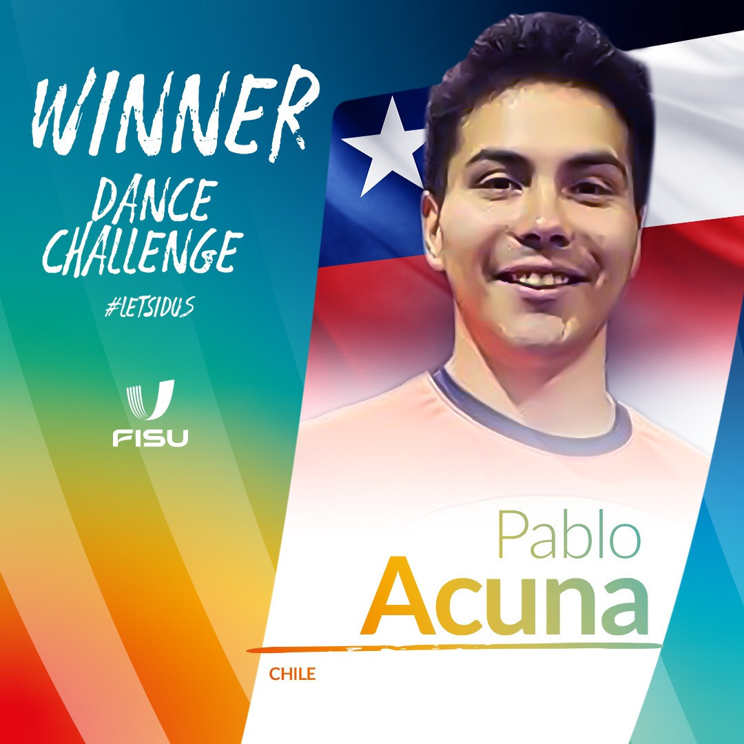 Chilean Acuna wins International Day of University Sport Dance Challenge