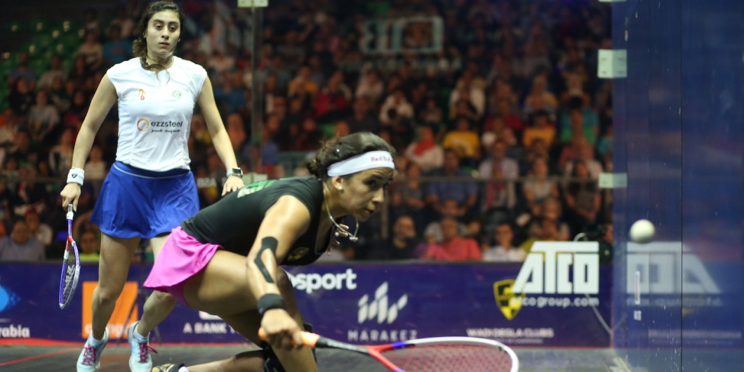 Nouran Gohar headlines the women's competition as she takes to the court for the first time as the world number one ©PSA