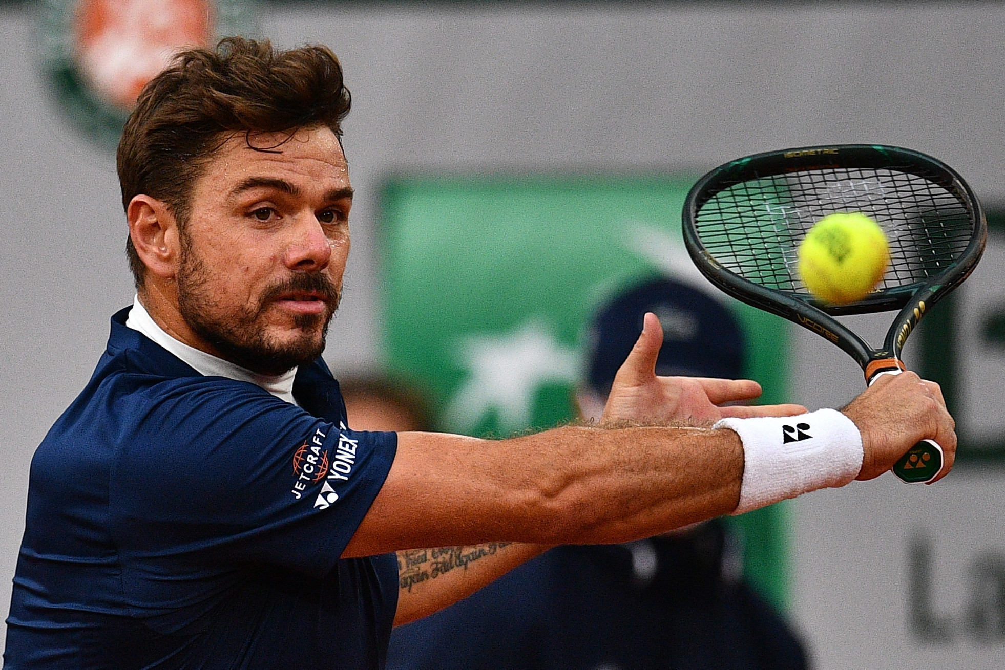 Stan Wawrinka, another ex-champion, made it through to the second round in straight sets, beating two-time Olympic champion Andy Murray ©Getty Images