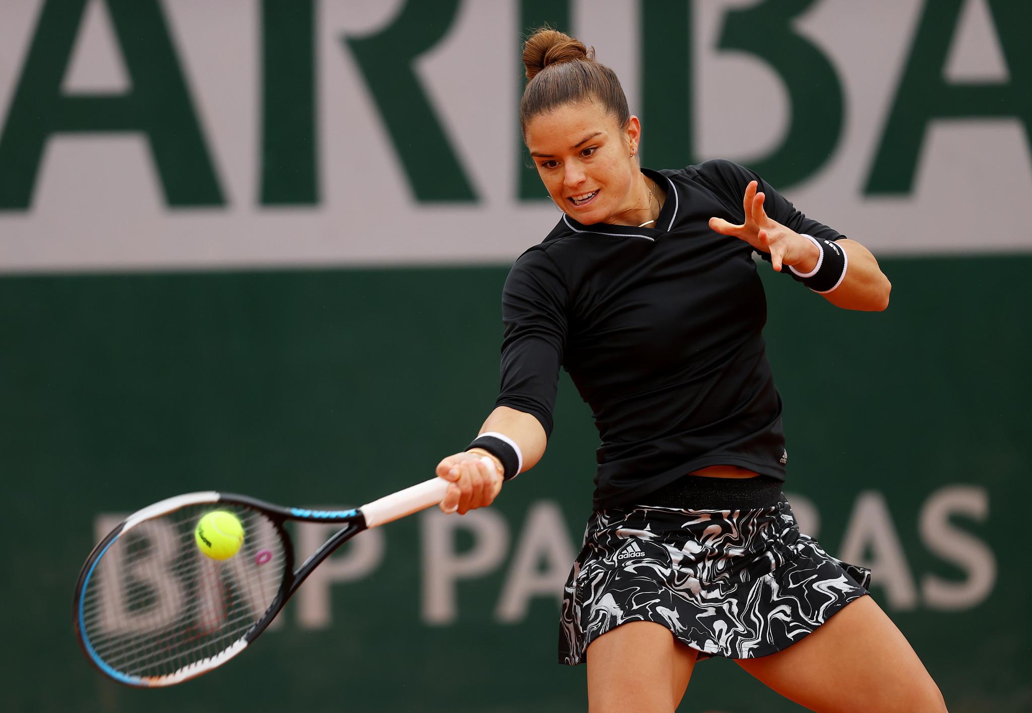 Greece's Maria Sakkari broke Ajla Tomljanović of Australia seven times in a straight-sets win ©Getty Images
