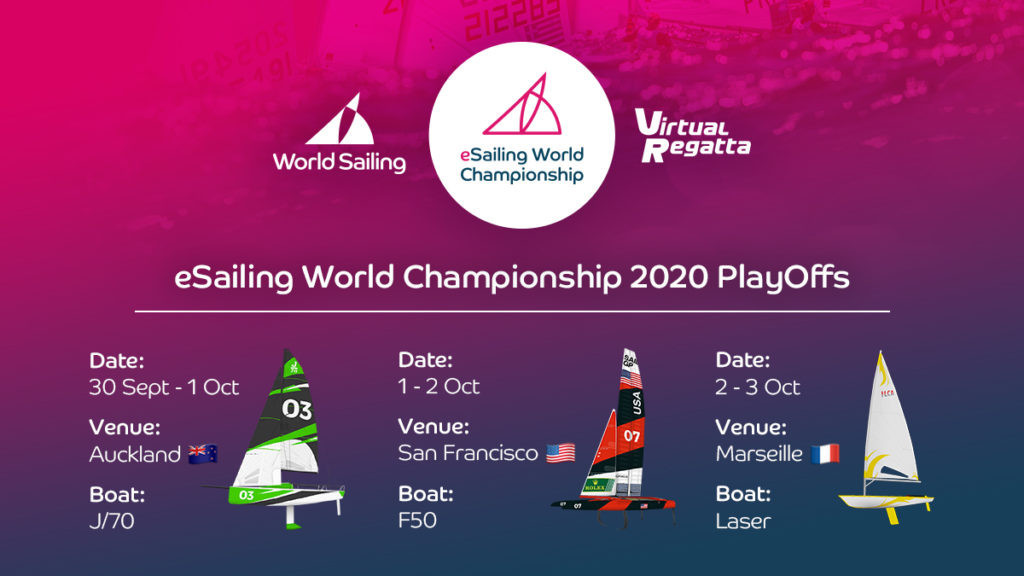 The eSailing World Championship 2020 play-offs will start on September 30 ©eSailing
