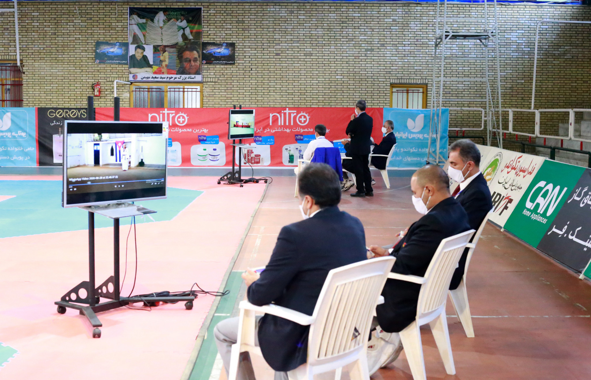 Judges watched the performances on a screen ©IRITF