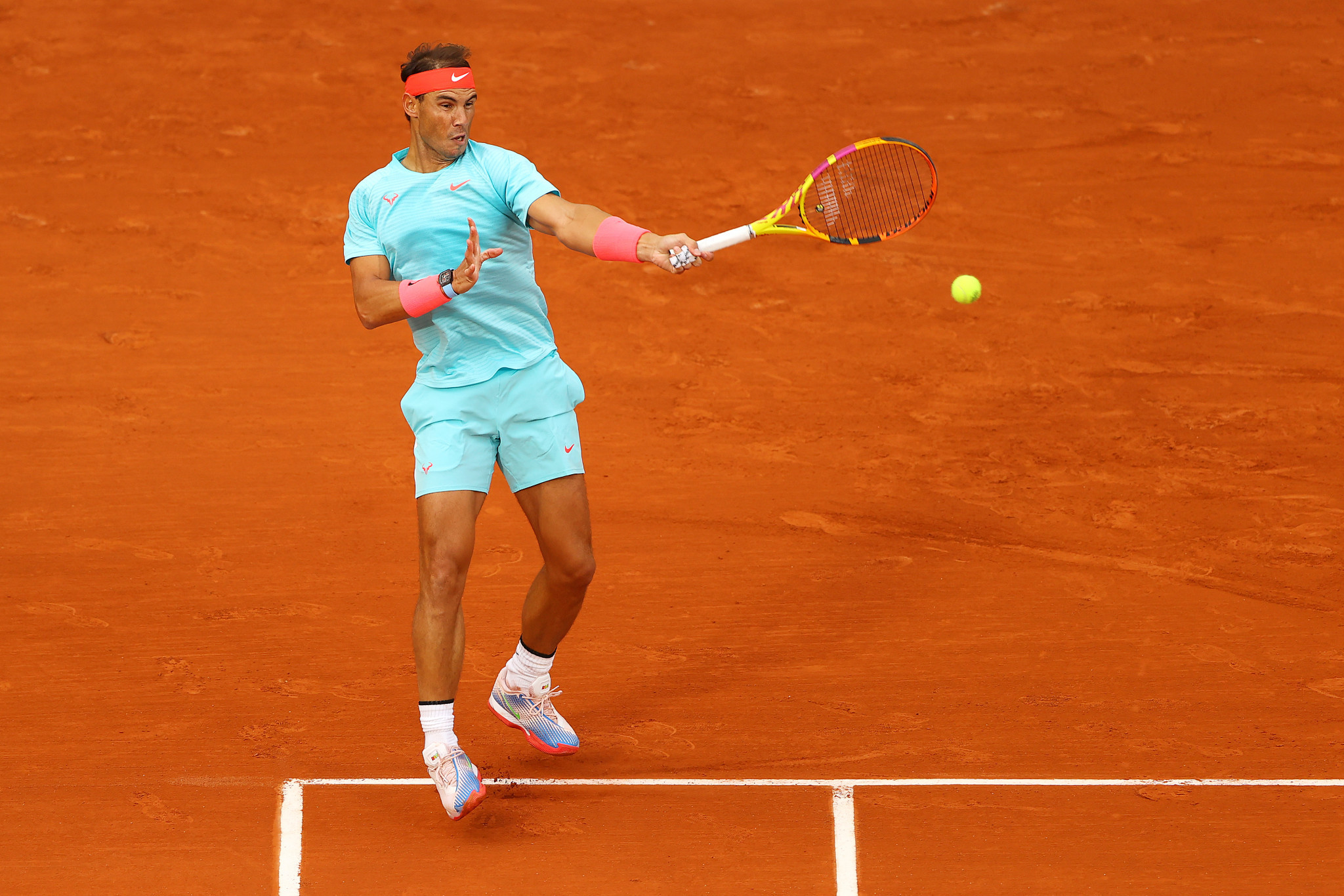 Spain's Rafael Nadal progressed from round one in a bid to win a fourth straight men's singles French Open title ©Getty Images
