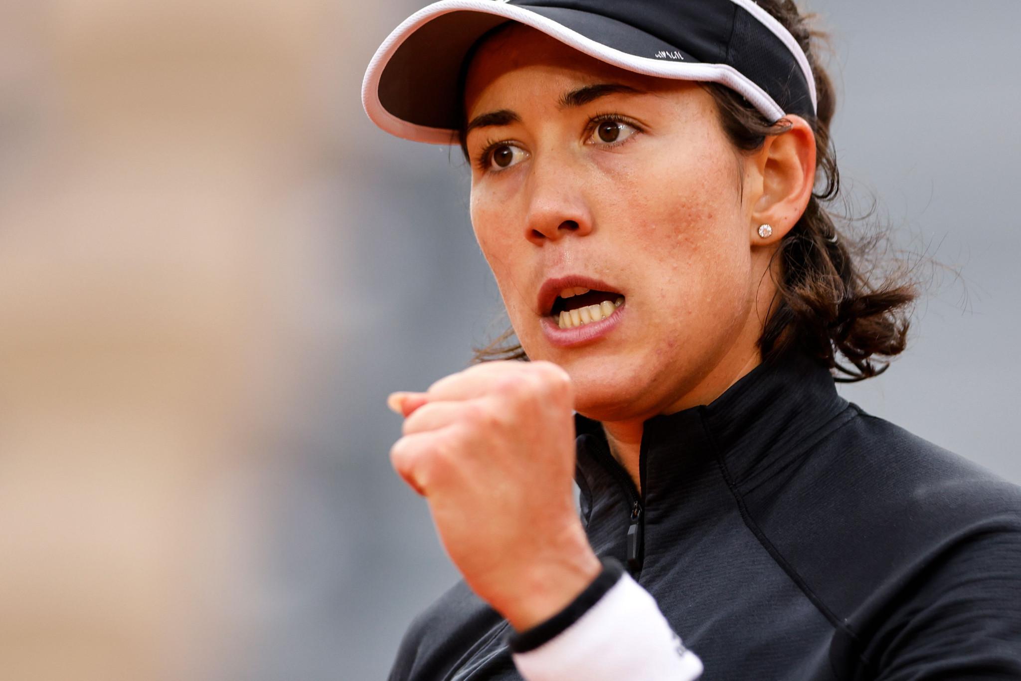 Garbiñe Muguruza of Spain had to work hard to win in three sets against Tamara Zidanšek of Slovenia ©Getty Images