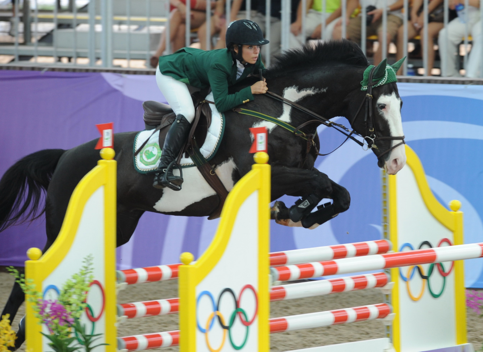 Dalma Malhas was Saudi Arabia's first female medal winner at the Youth Olympic Games when she clinched bronze at Singapore 2010 ©Getty Images