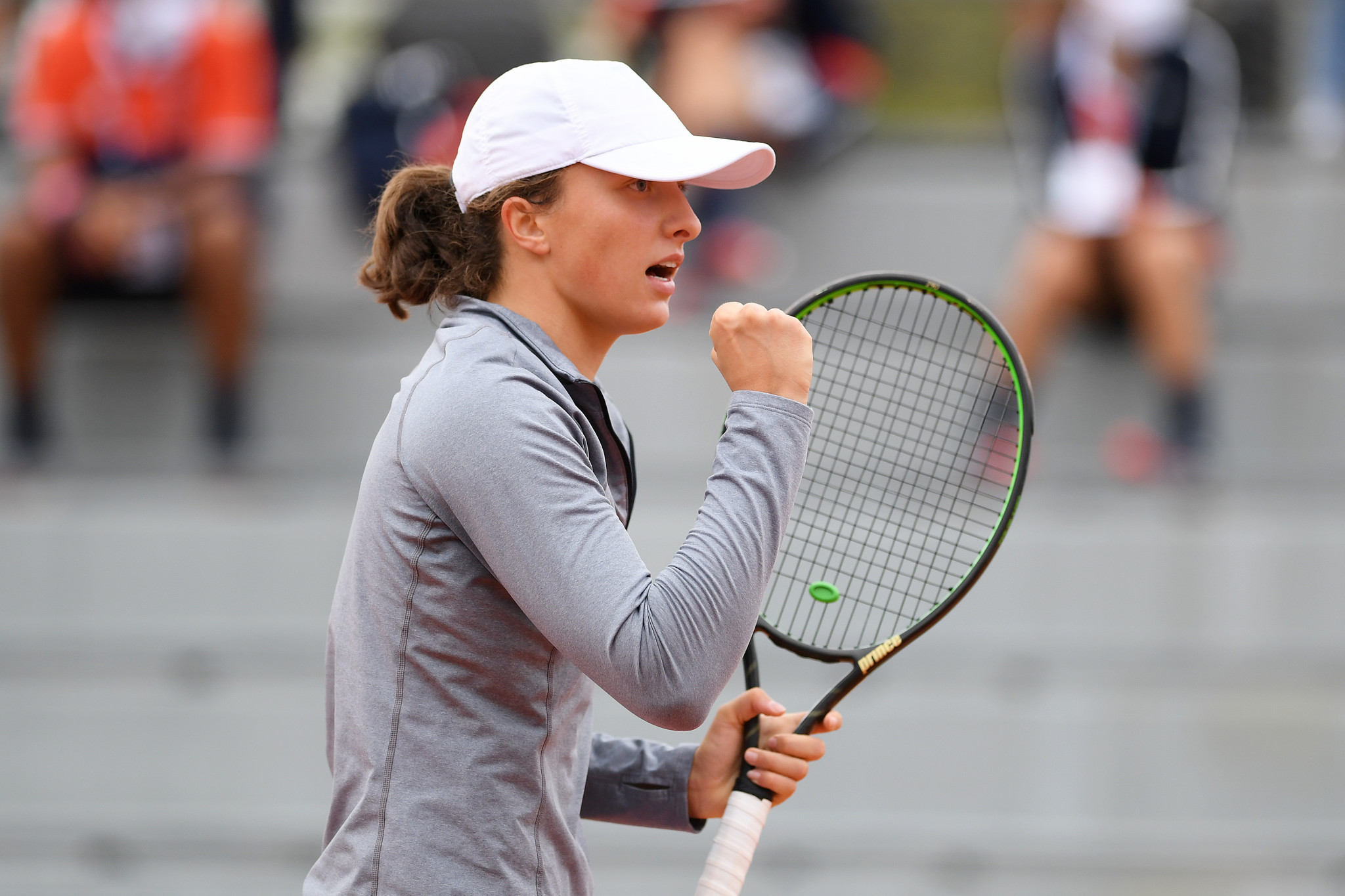 Iga Swiatek caused one of the biggest upsets of the day on the women's side as she knocked out last year's runner-up Marketa Vondrousova ©Getty Images