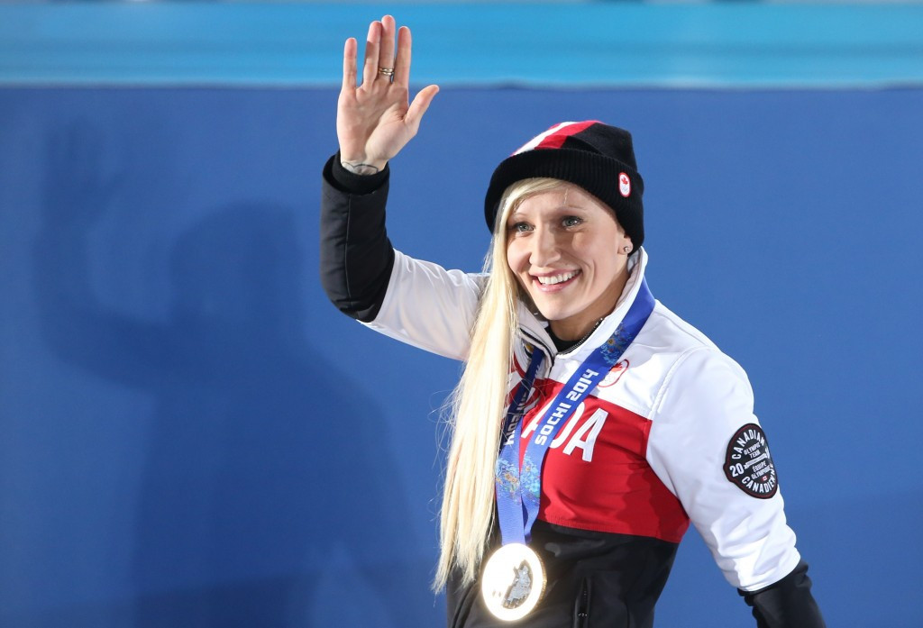Kaillie Humphries of Canada will pilot the first-ever four-man all-female crew at the IBSF World Cup in Lake Placid ©Getty Images