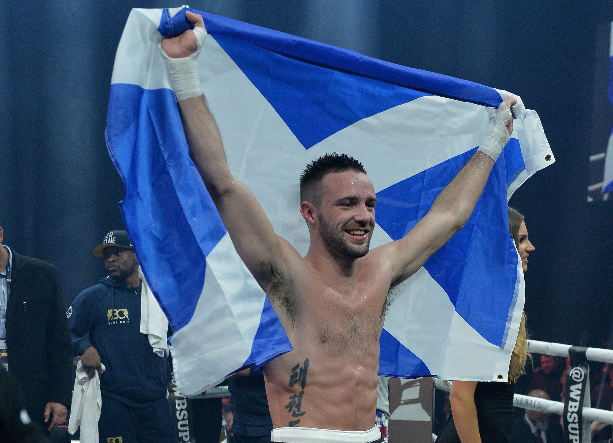 Boxer Josh Taylor has been excelling in the ring for Scotland ©Getty Images