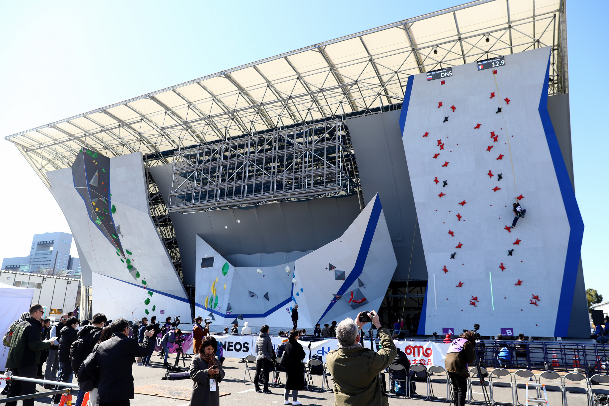 Sport climbing is set to take place at the Aomi Urban Sports Park during Tokyo 2020 ©Getty Images