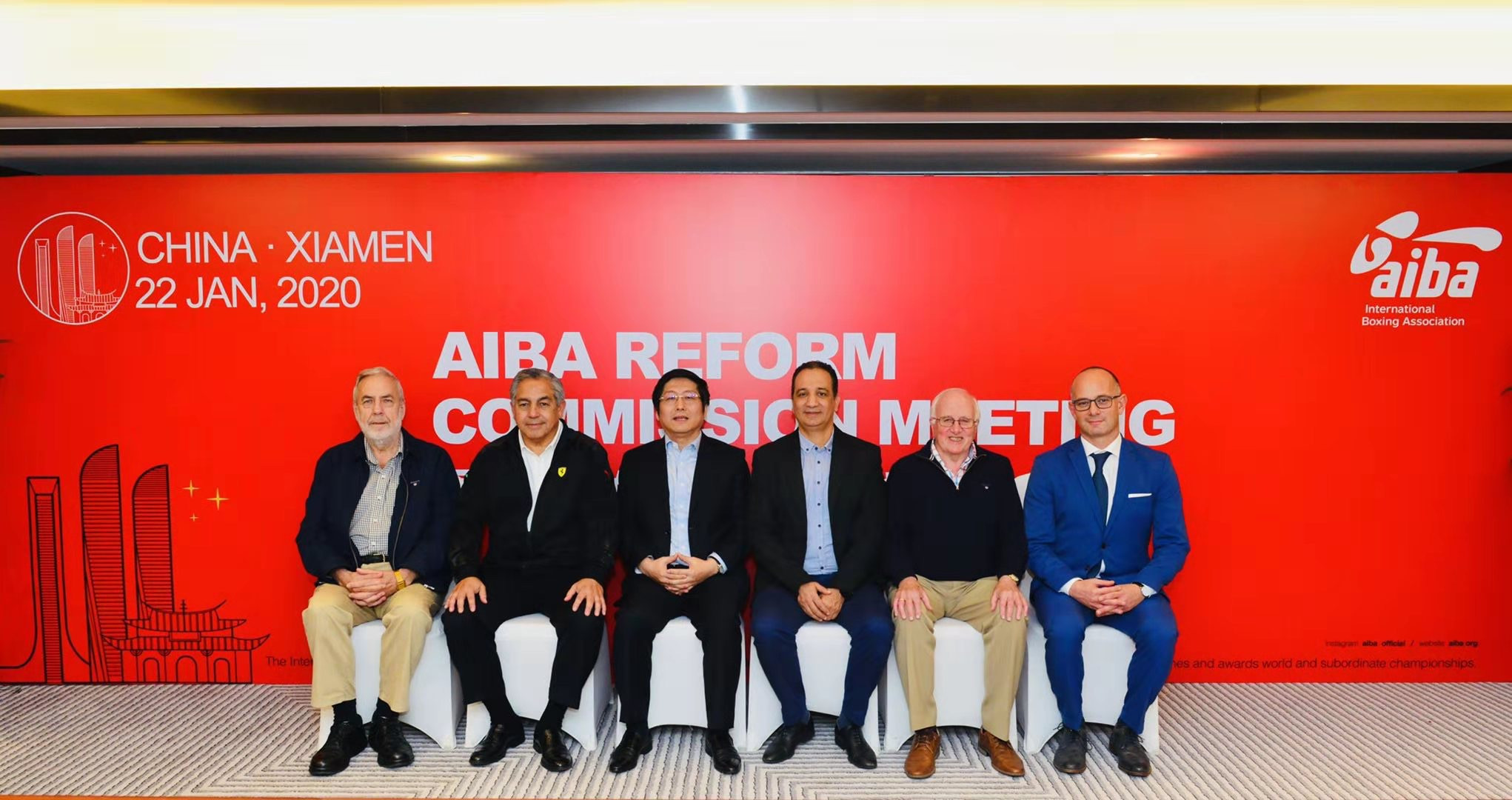 The AIBA Reform Commission,led by China's Wu Di, third left, will present its proposals to the Executive Committee meeting tomorrow ©AIBA