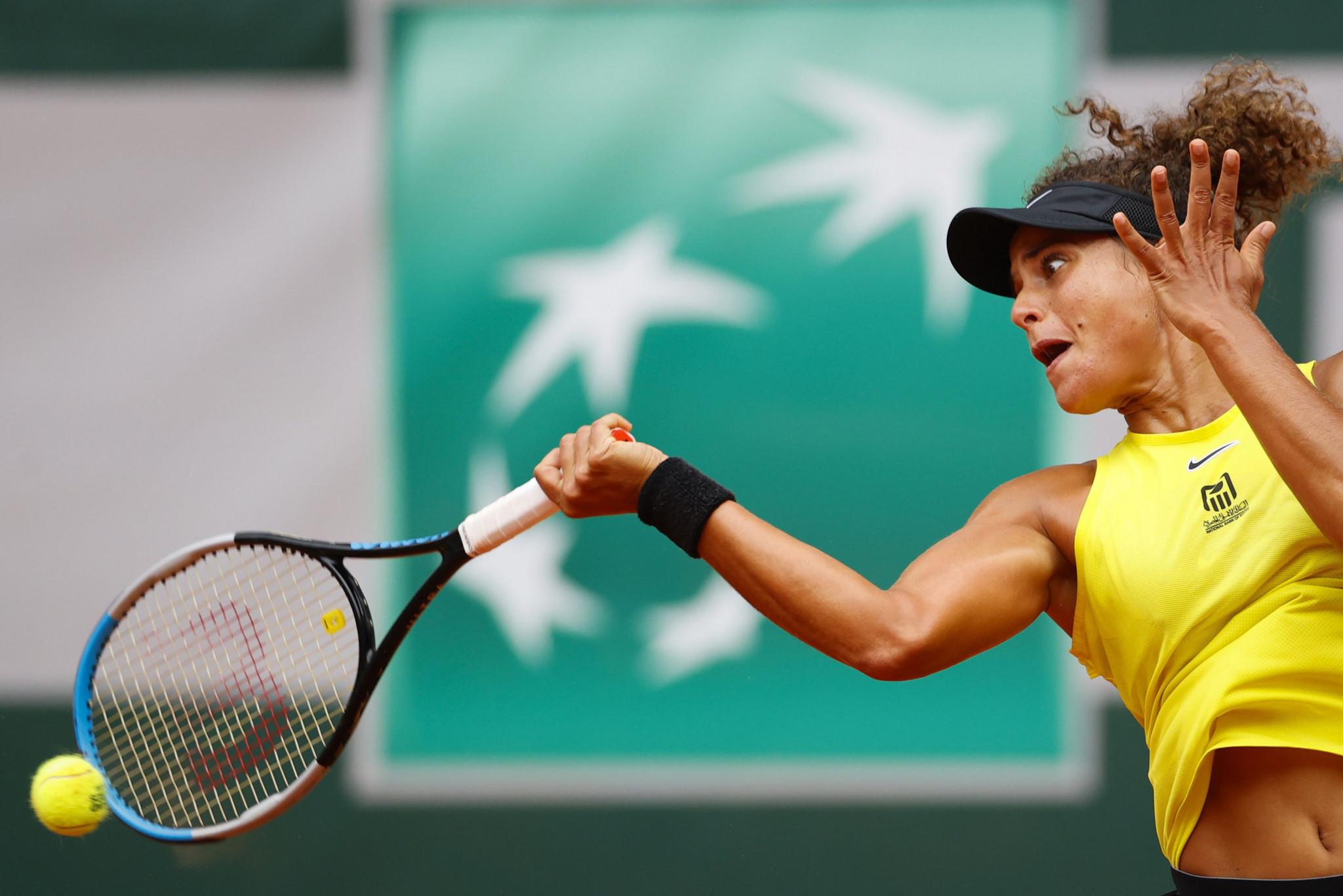Grand Slam debutant Maya Sherif of Egypt took second seed Karolina Pliskova to three sets before the Czech player prevailed ©Getty Images