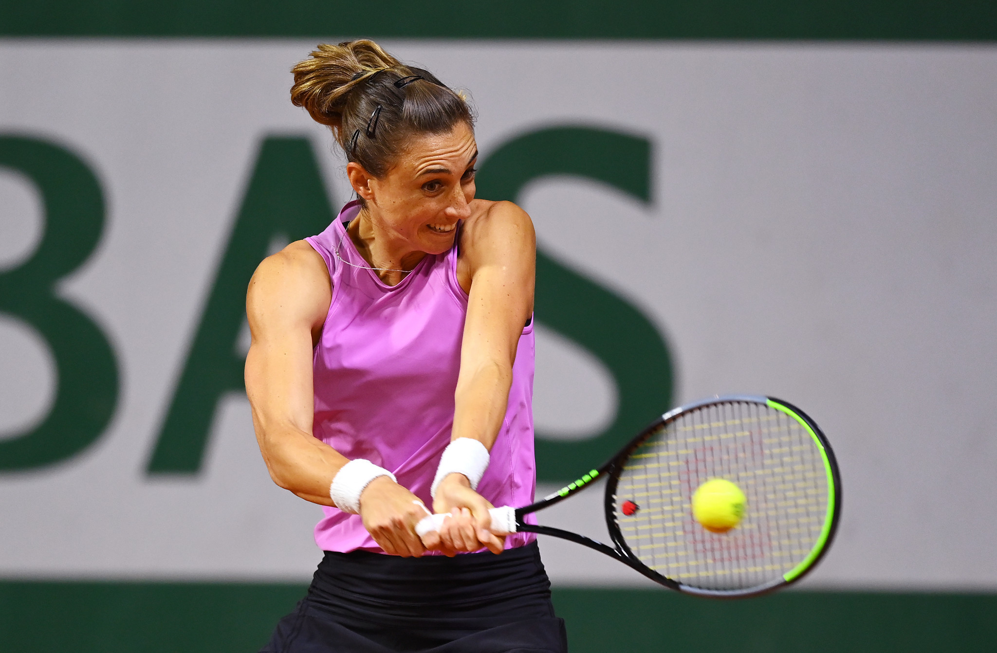 Petra Martic, the 13th seed, reached round two after winning in two close sets against Japan's Misaki Doi ©Getty Images