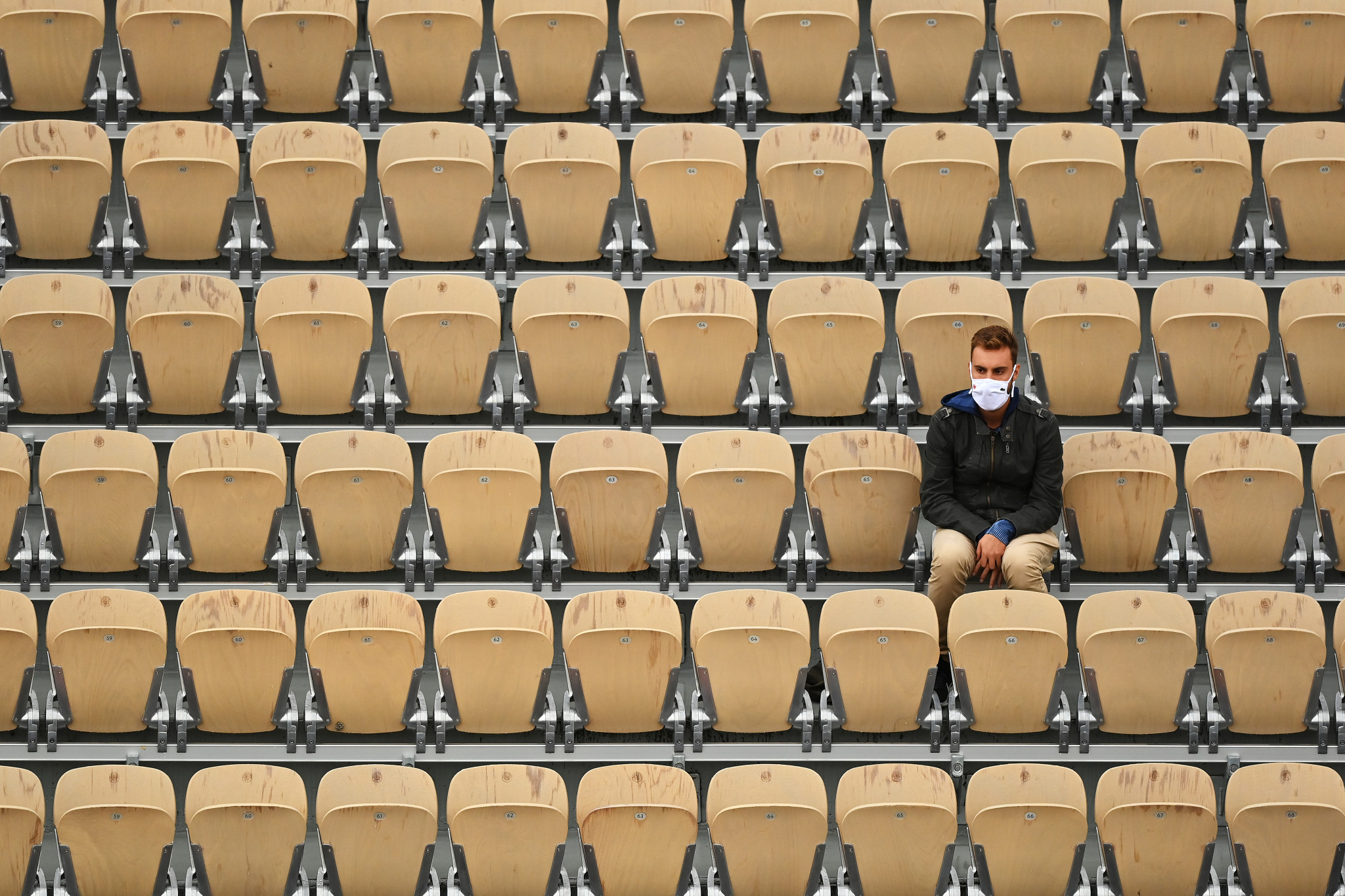 Owing to the coronavirus pandemic, capacity is limited to 1,000 fans in the grounds per day in Paris ©Getty Images