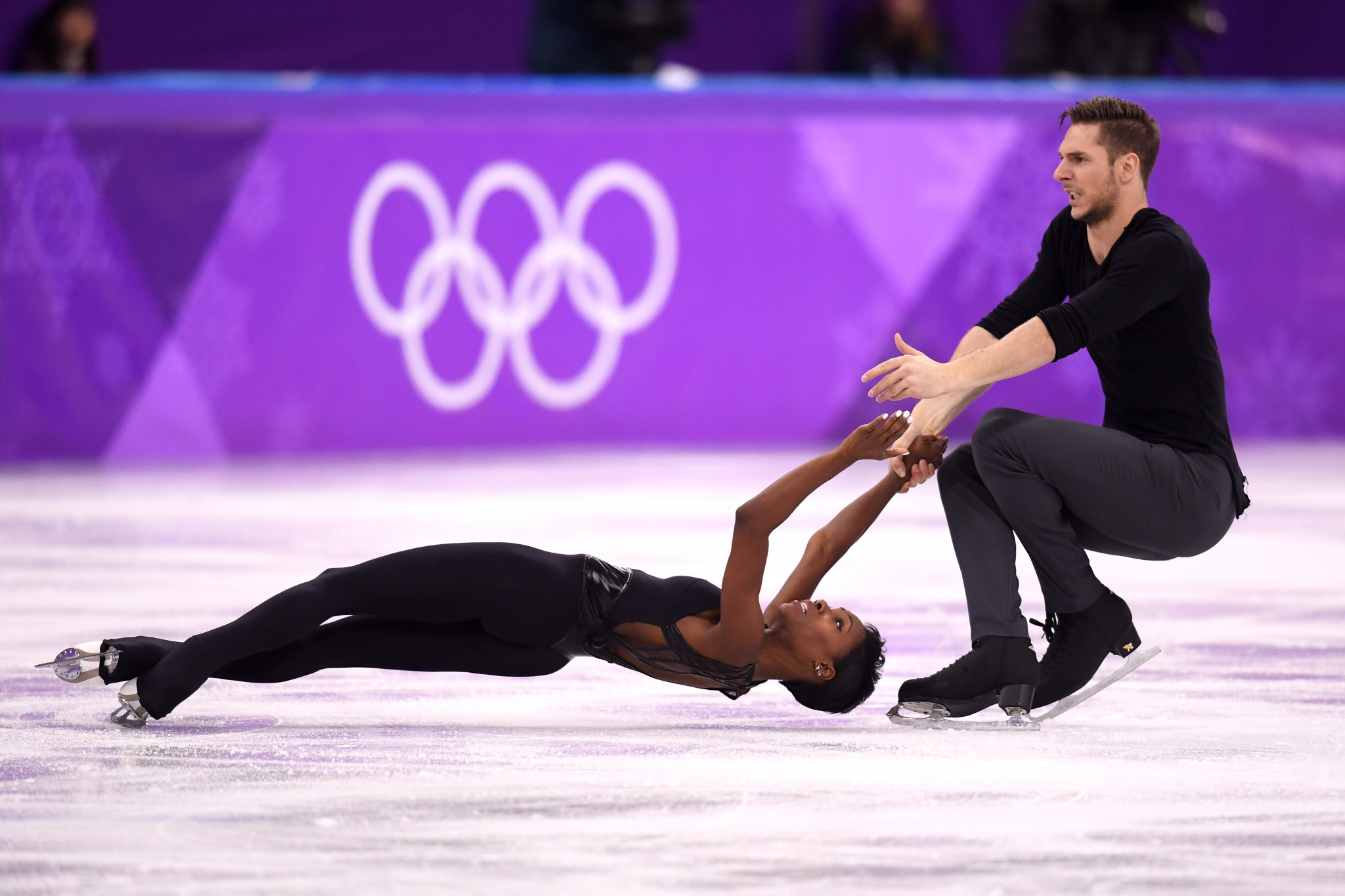 Morgan Ciprès and pairs partner Vanessa James competed in two Winter Olympic Games ©Getty Images