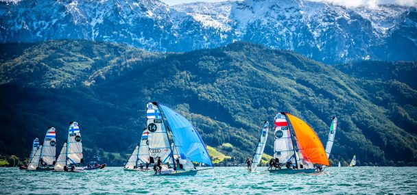 No wind prevents racing on second day of European 49er, 49erFX and Nacra 17 Championships