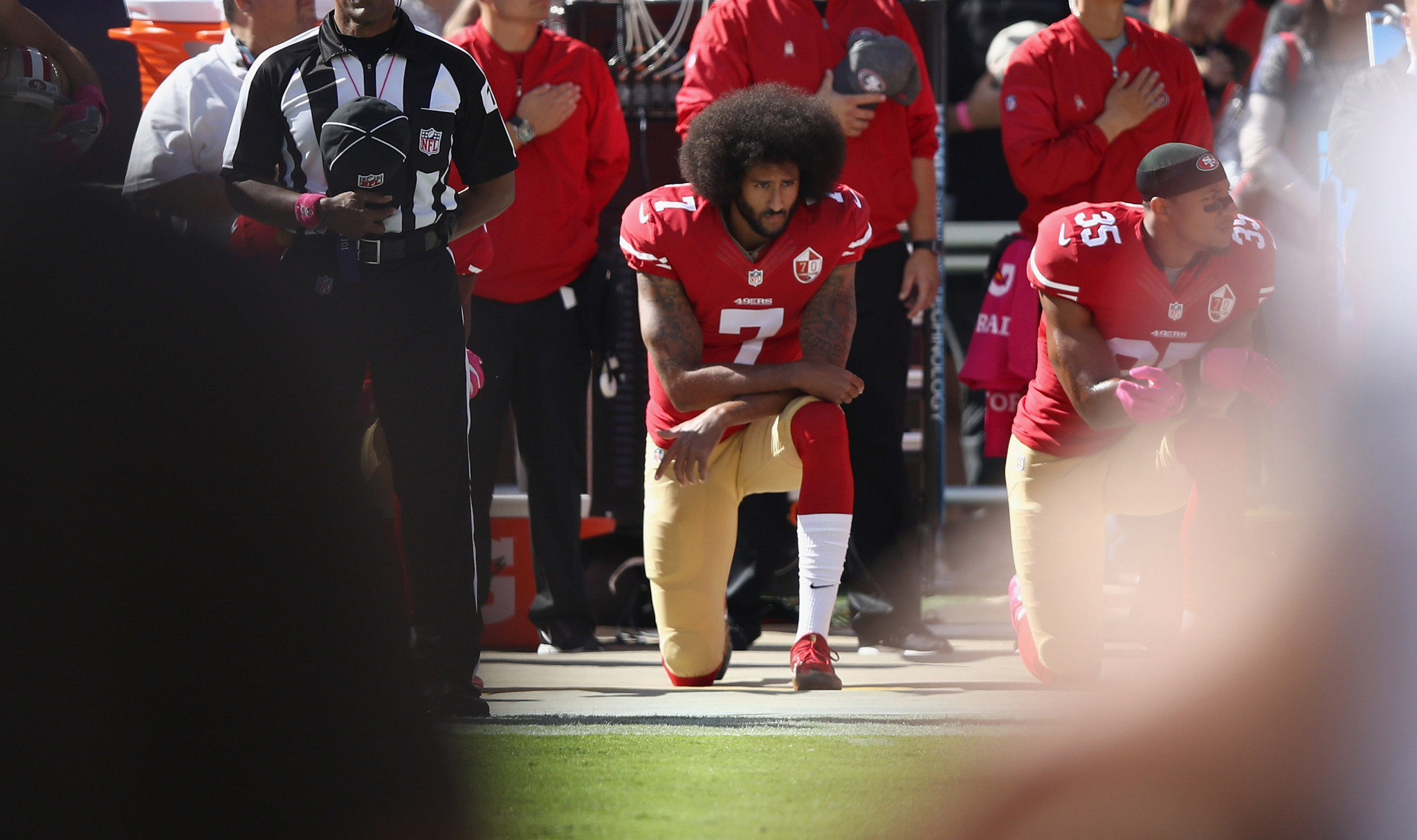 Colin Kaepernick's kneeling kick-started a new era of athlete protests ©Getty Images
