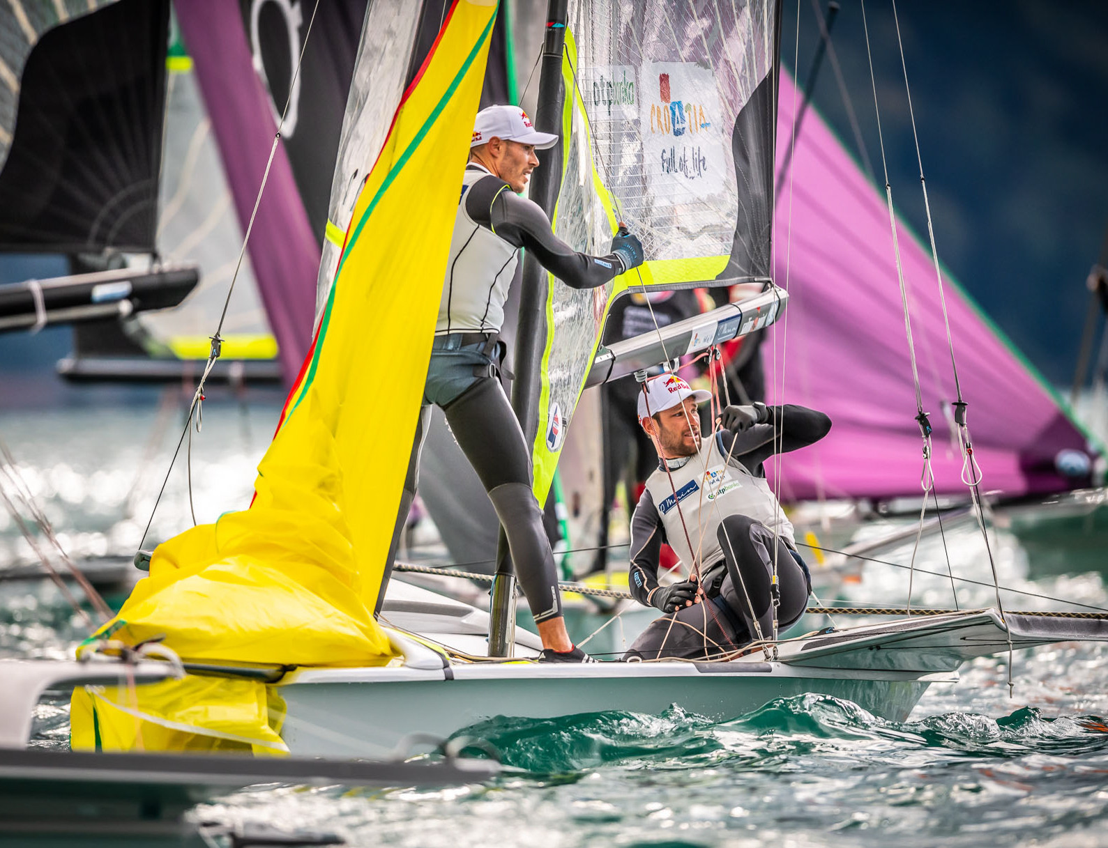 Croatian brothers Šime and Mihovil Fantela have maintained their lead in the European 49er Championship ©49er